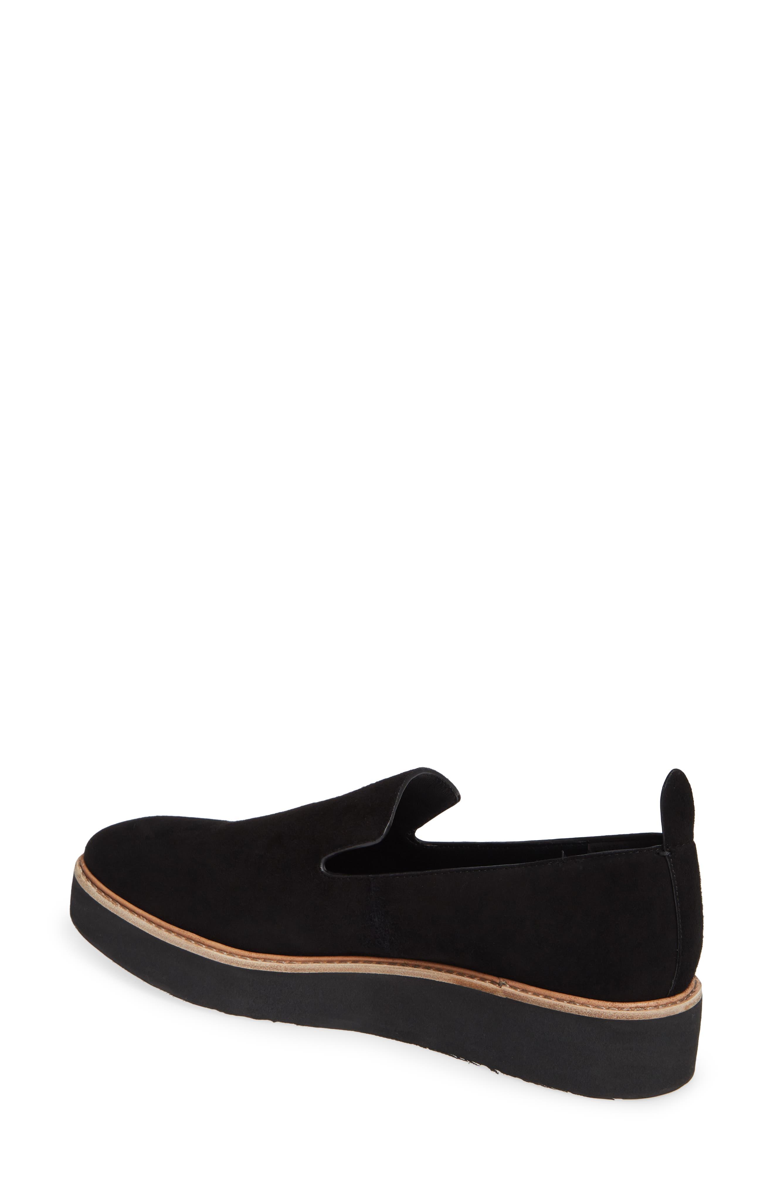 Sanders Slip-On Sneaker,                             Alternate thumbnail 2, color,                             BLACK/ BLACK LEATHER