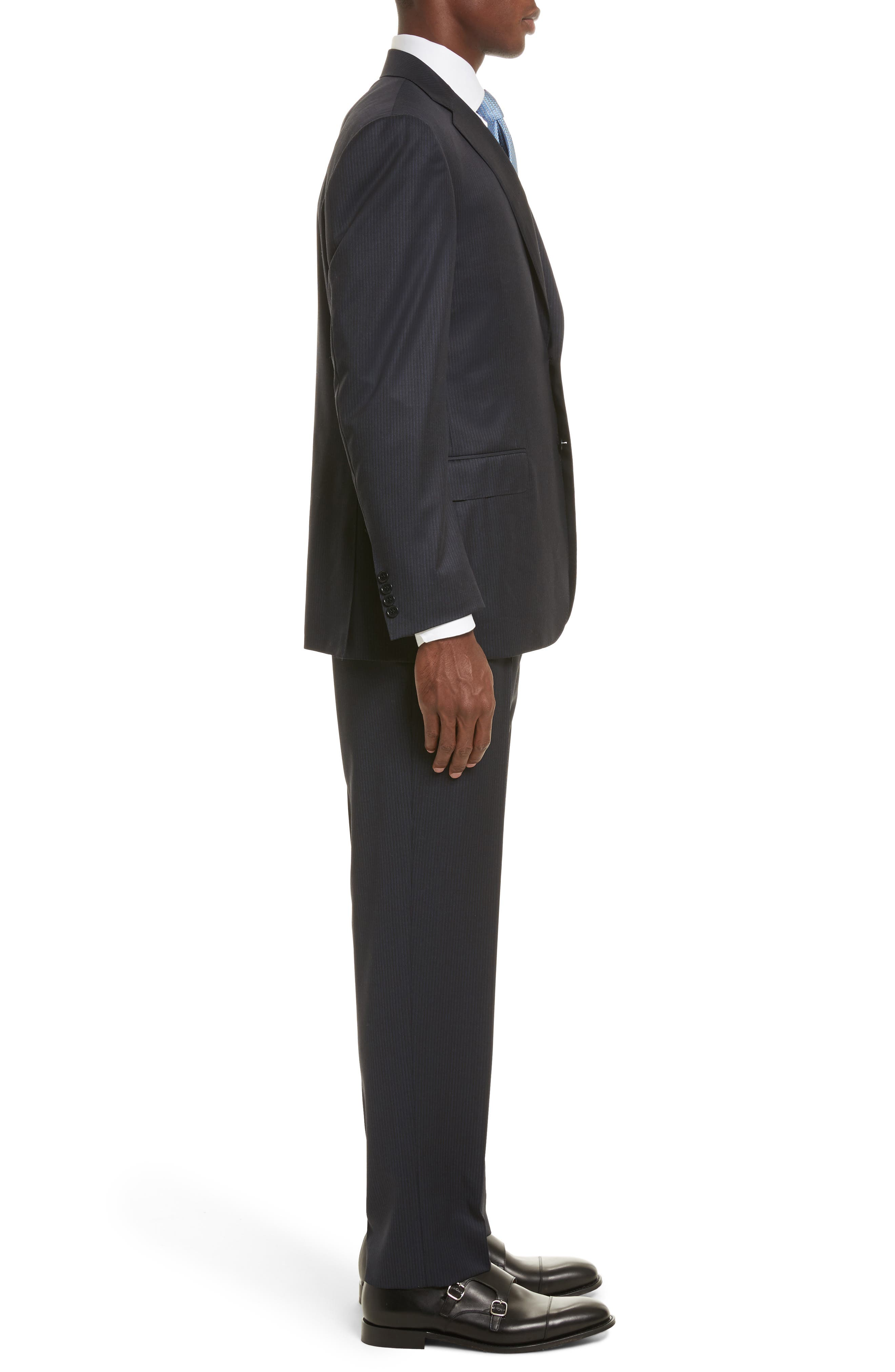 Classic Fit Stripe Wool Suit,                             Alternate thumbnail 3, color,                             400