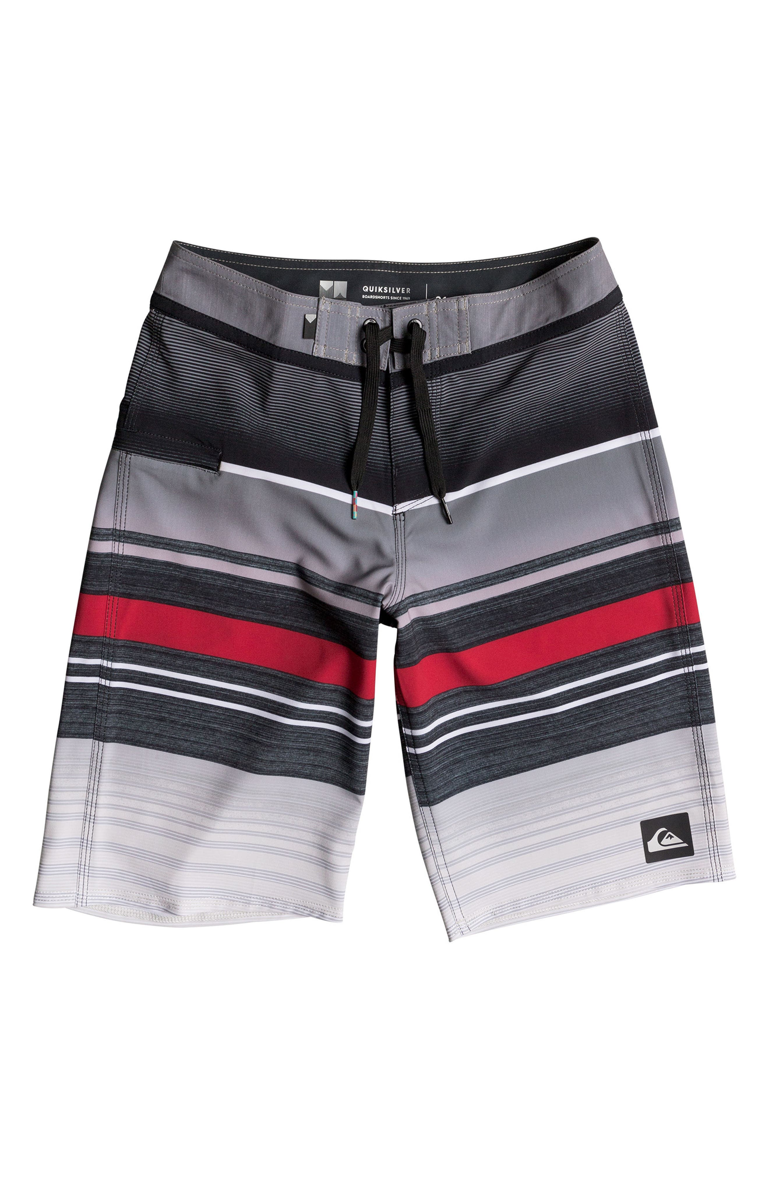 Everyday Stripe Vee Board Shorts,                         Main,                         color,