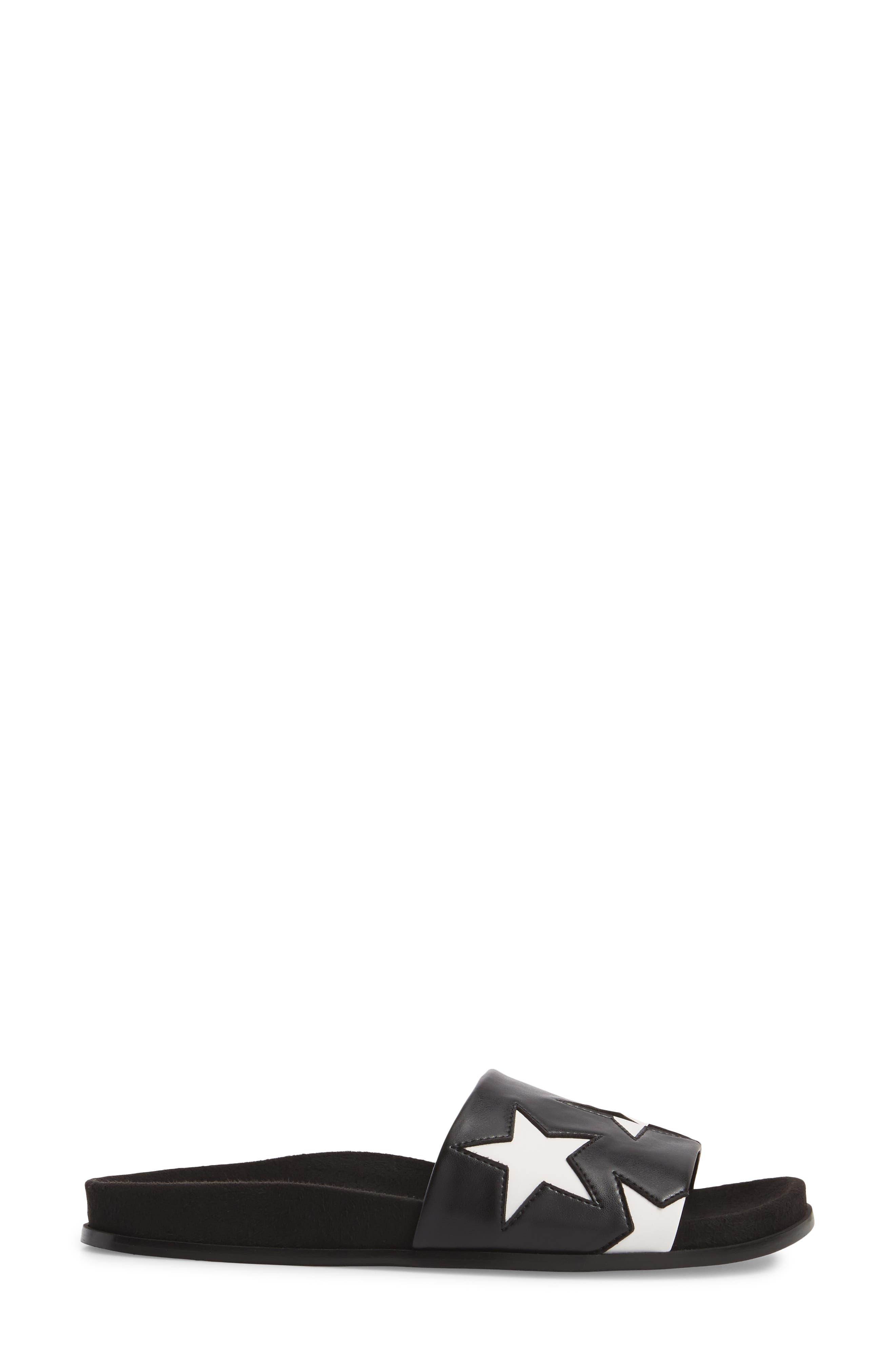 Star Slide Sandal,                             Alternate thumbnail 3, color,                             001