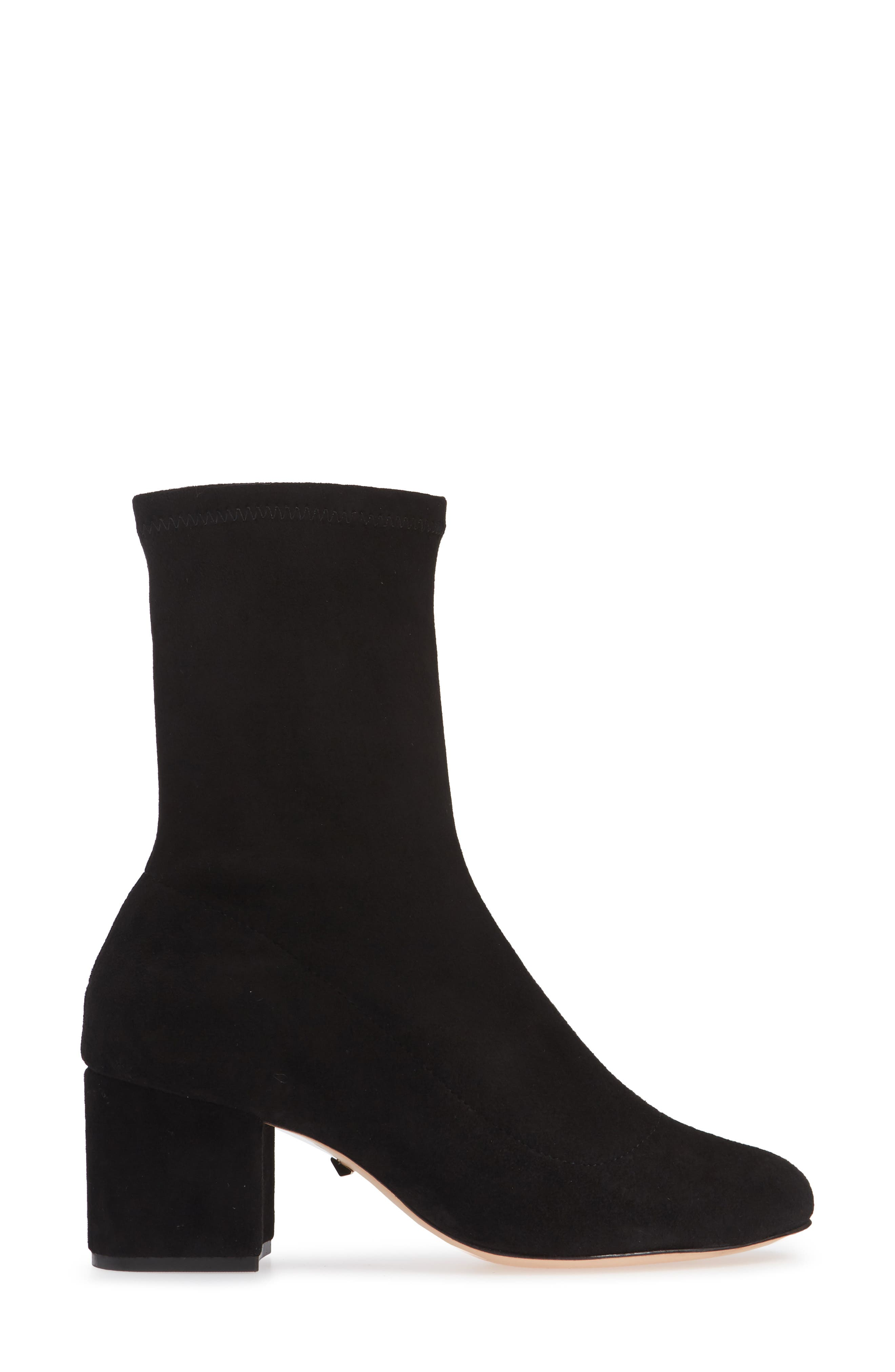 SCHUTZ,                             Lupe Stretch Bootie,                             Alternate thumbnail 3, color,                             001