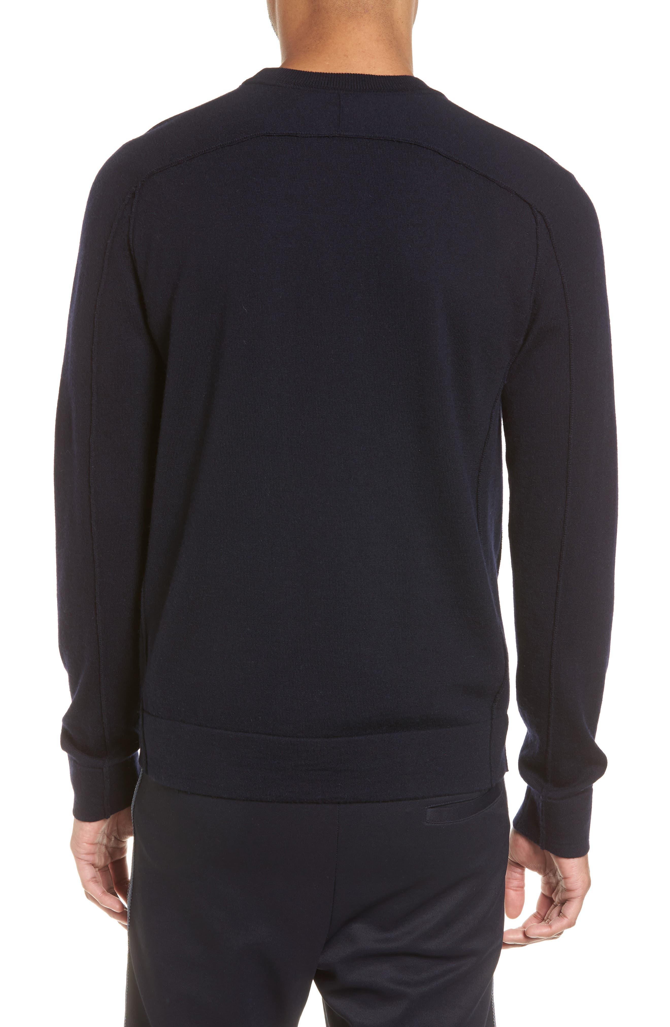 Raw Seam Merino Wool Sweater,                             Alternate thumbnail 2, color,                             NEW COASTAL