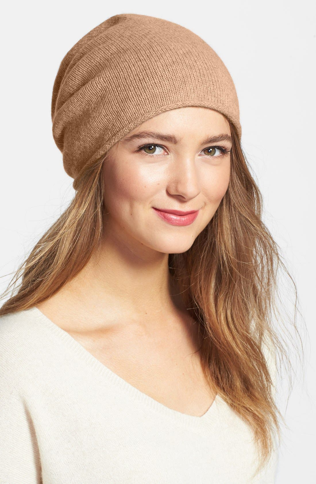 Slouchy Cashmere Beanie,                             Main thumbnail 10, color,