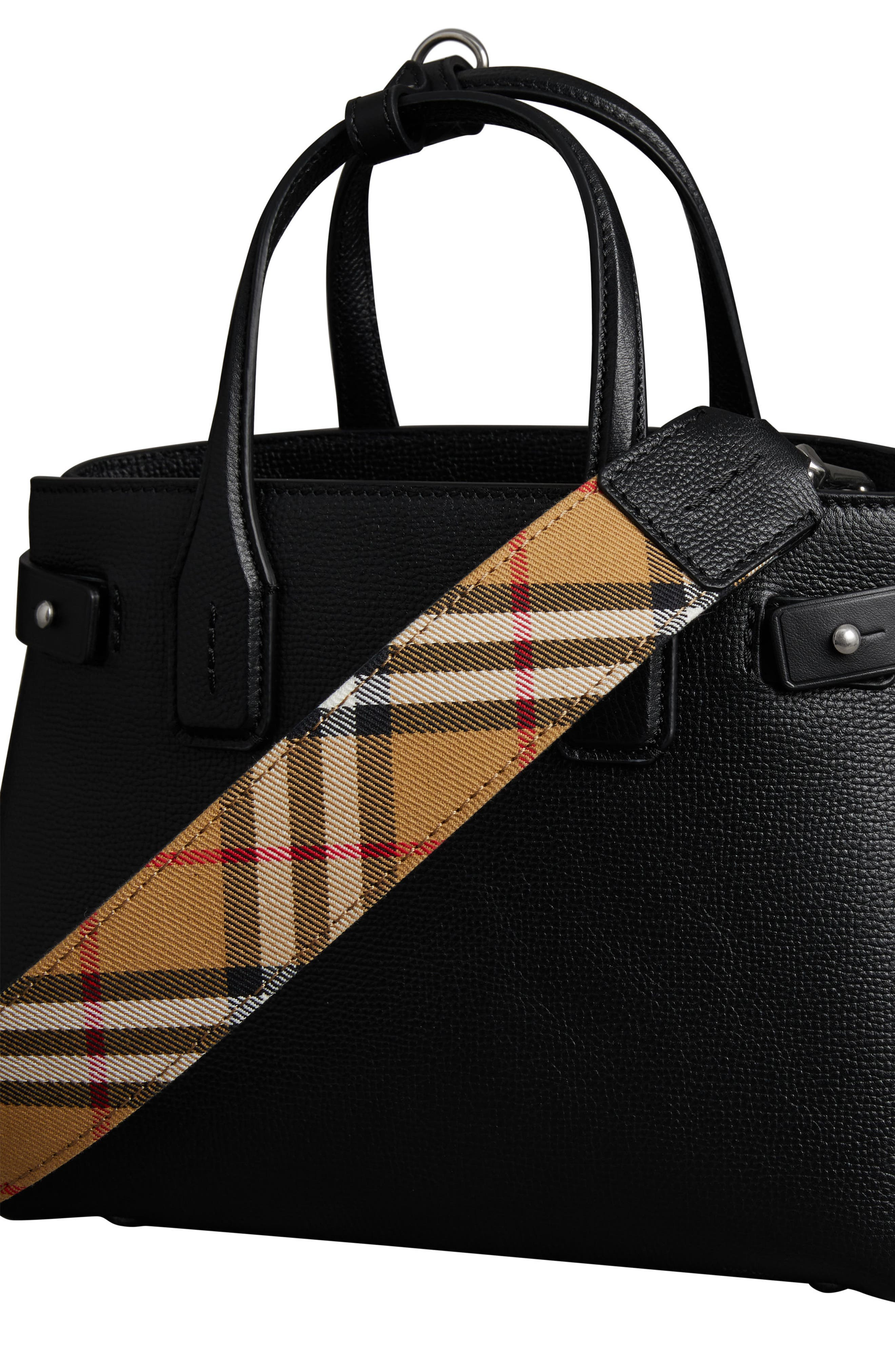 Small Banner Tote,                             Alternate thumbnail 8, color,                             BLACK