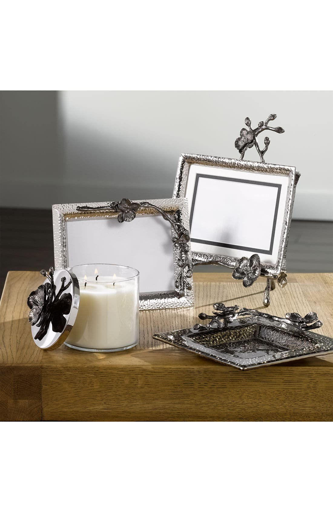Black Orchid Convertible Easel Picture Frame,                             Alternate thumbnail 2, color,                             NICKEL