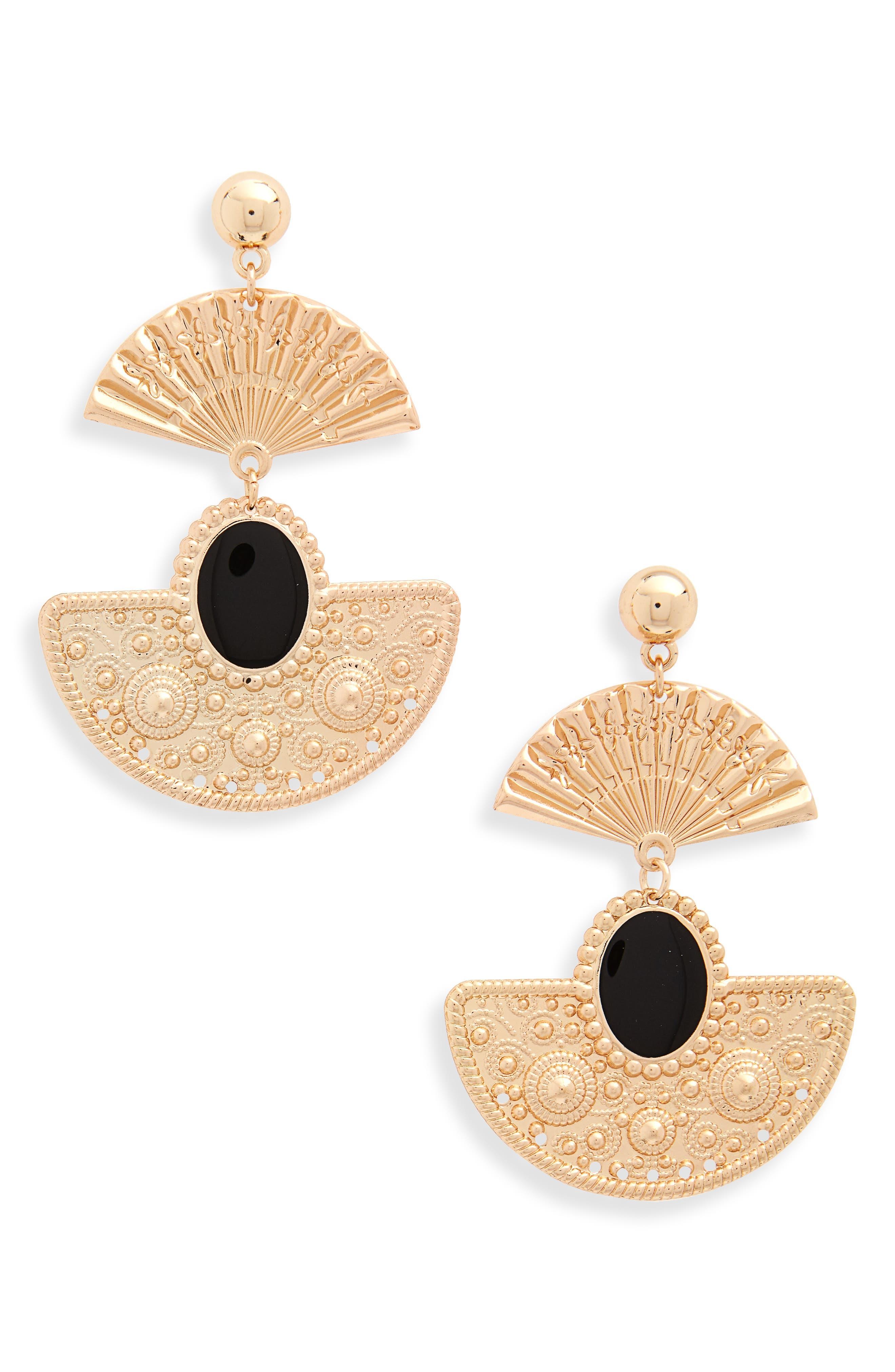 Fan Earrings,                         Main,                         color, 710