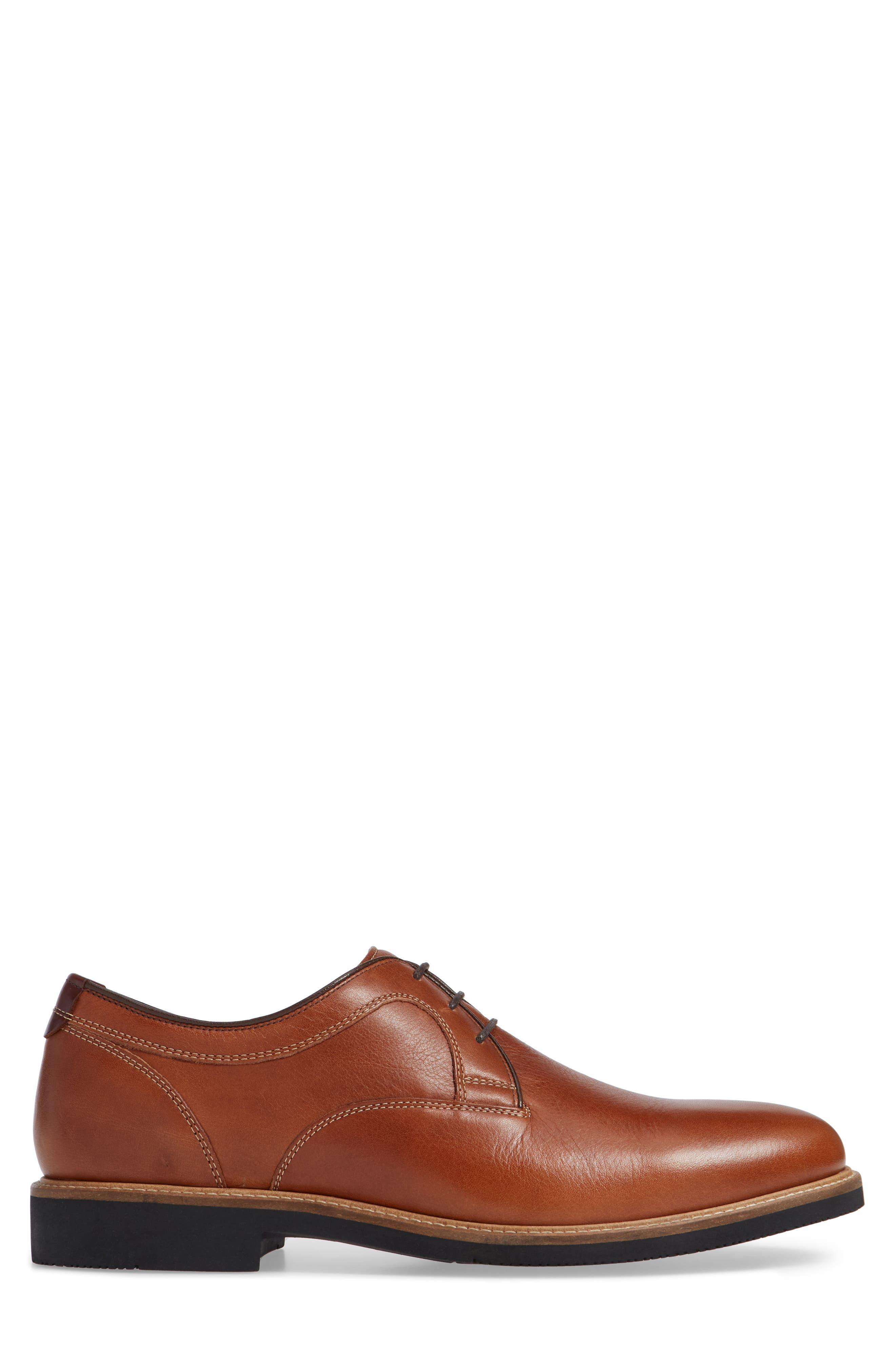 Barlow Plain Toe Derby,                             Alternate thumbnail 3, color,                             DARK TAN LEATHER