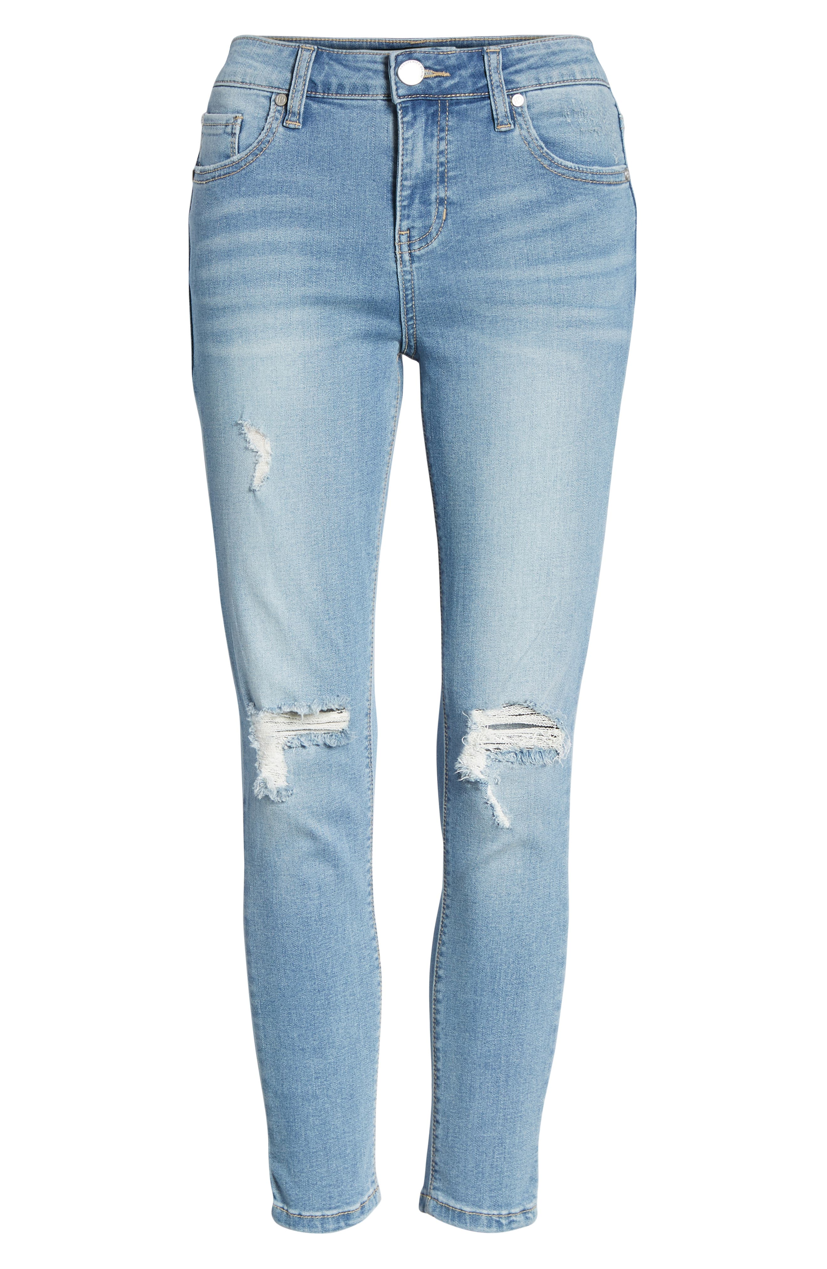 Ripped Crop Skinny Jeans,                             Alternate thumbnail 7, color,                             LUCAS