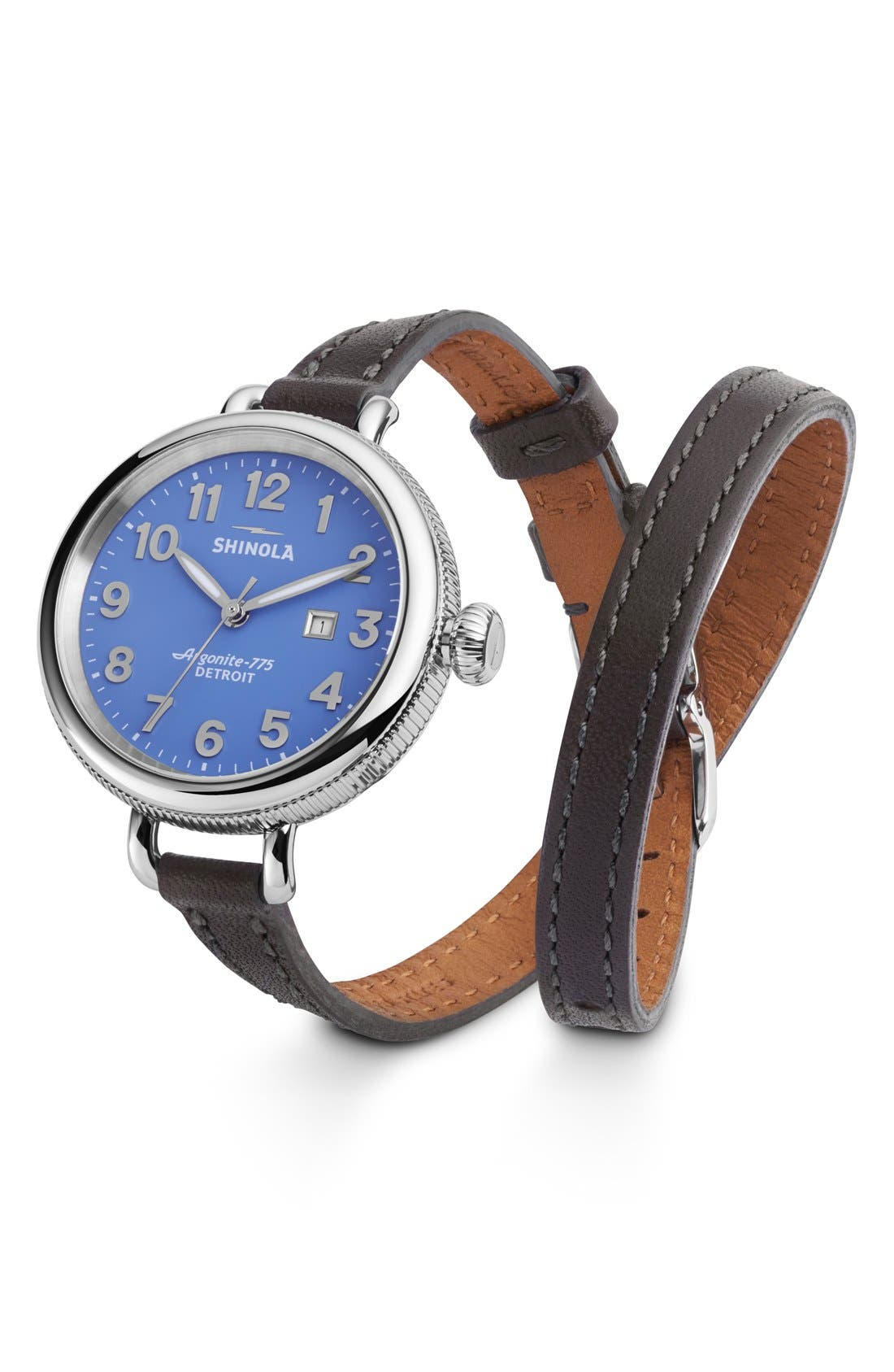'The Birdy' Double Wrap Leather Strap Watch, 34mm,                             Main thumbnail 5, color,