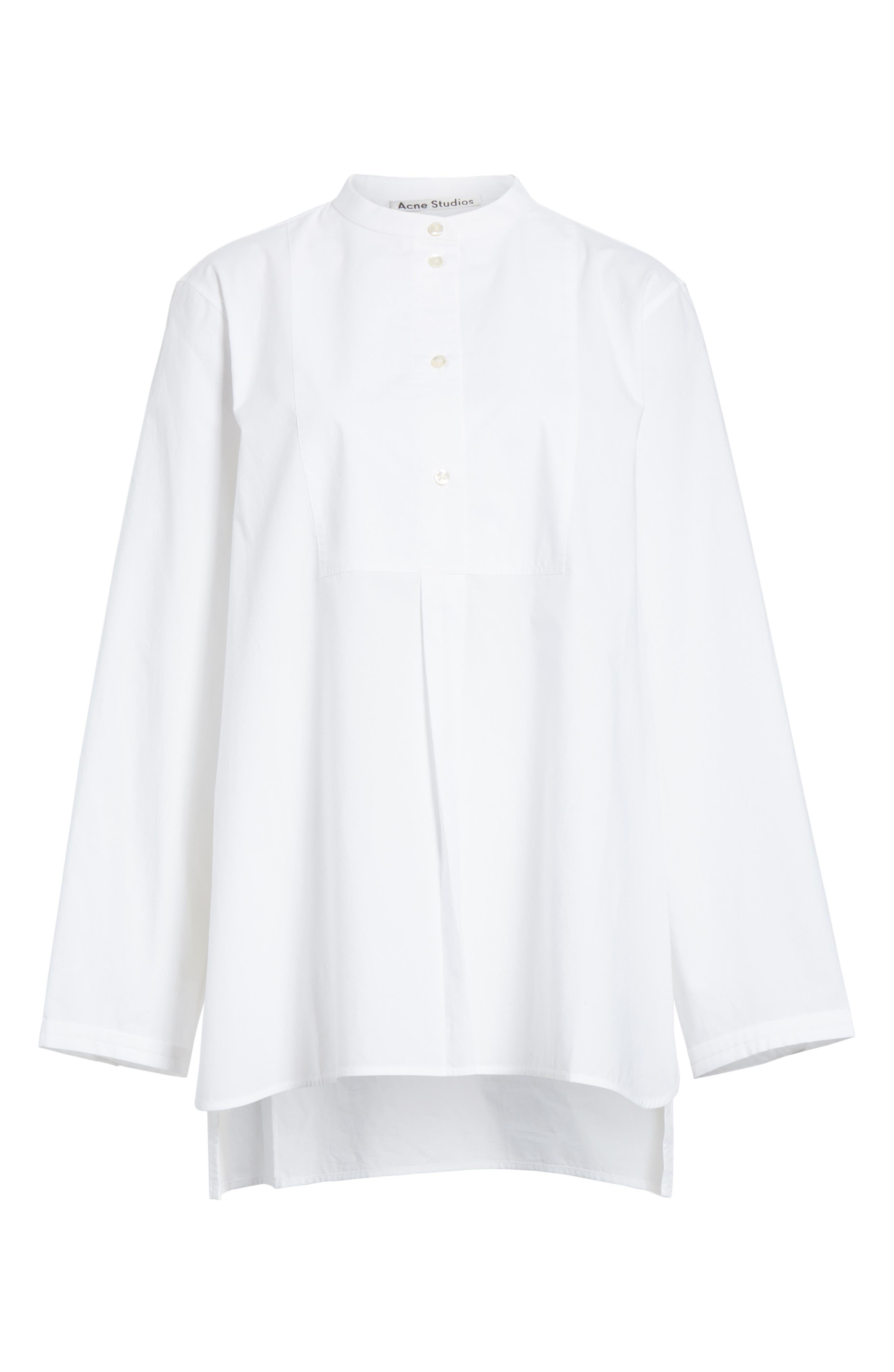 Lysanne Poplin Shirt,                             Alternate thumbnail 6, color,                             100
