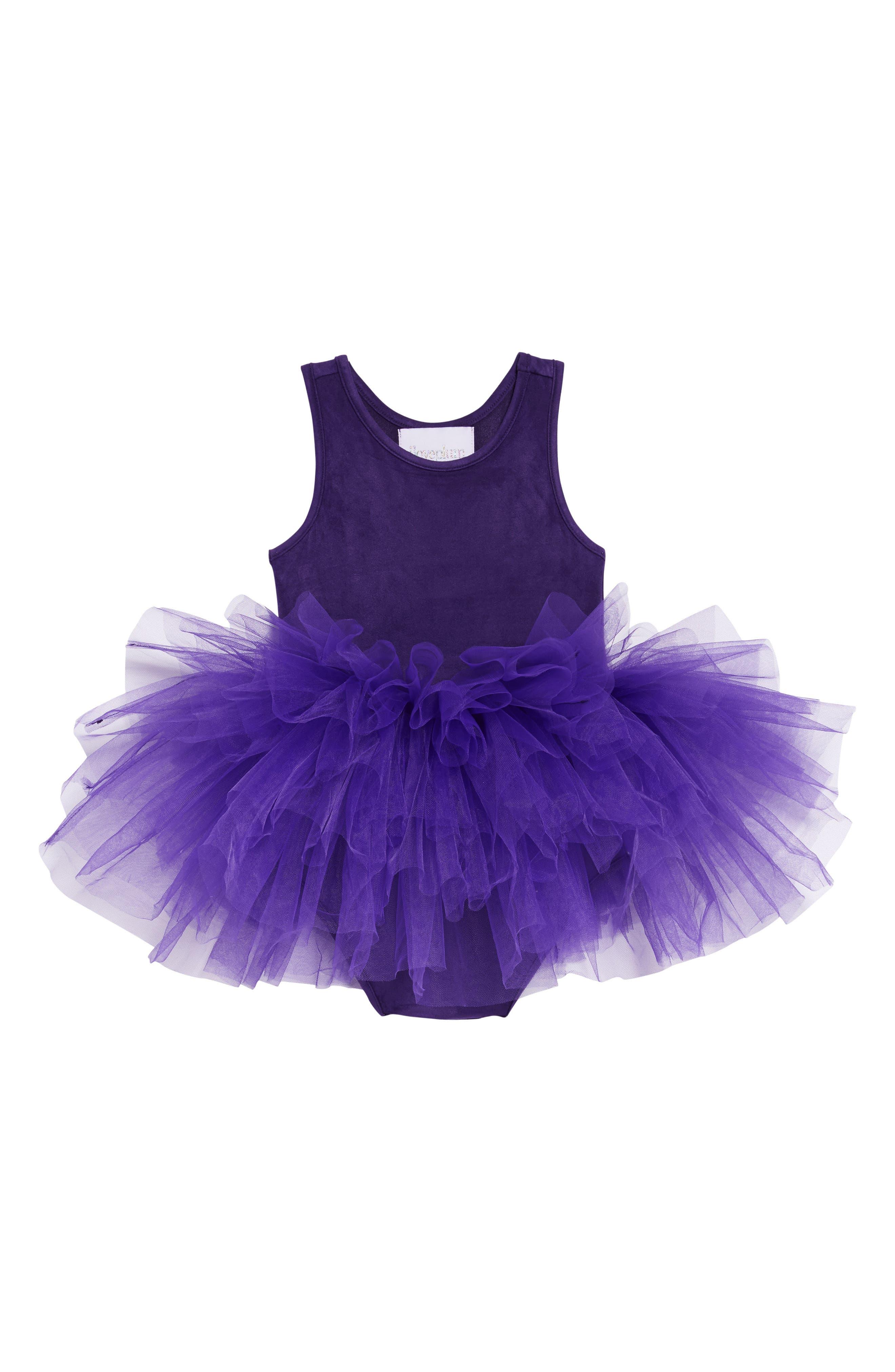 Tutu Dress,                         Main,                         color, PURPLE