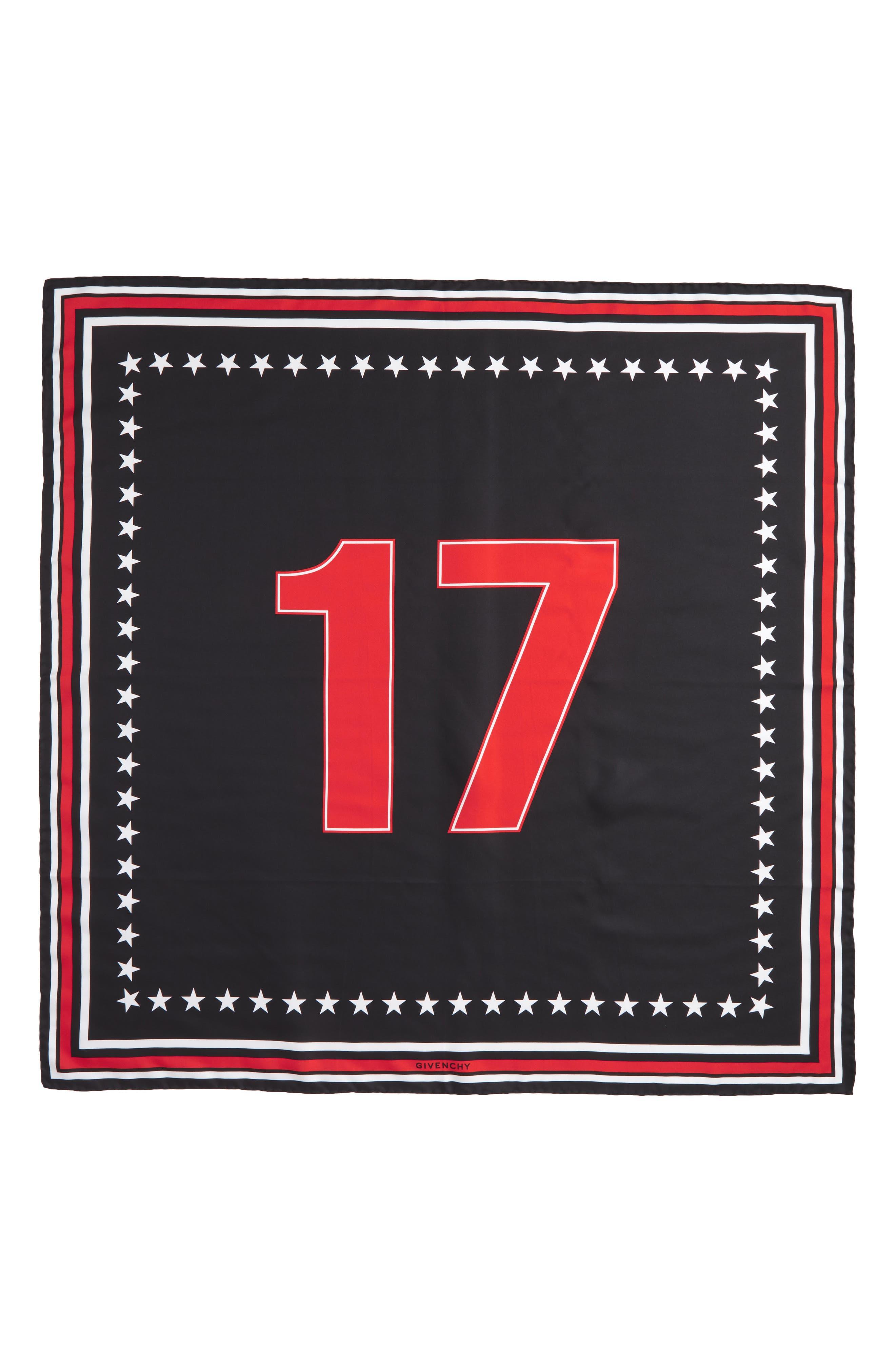 '17' Square Silk Scarf,                             Alternate thumbnail 7, color,