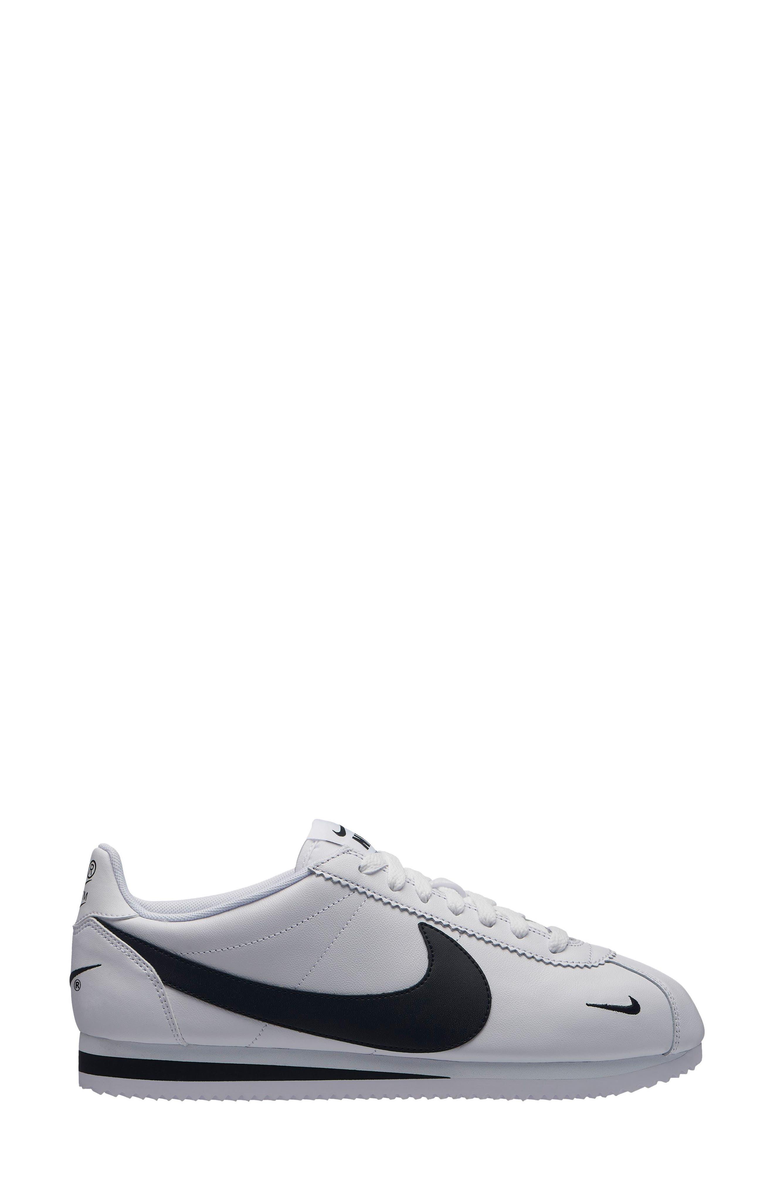 Classic Cortez Premium Sneaker in White/ Black