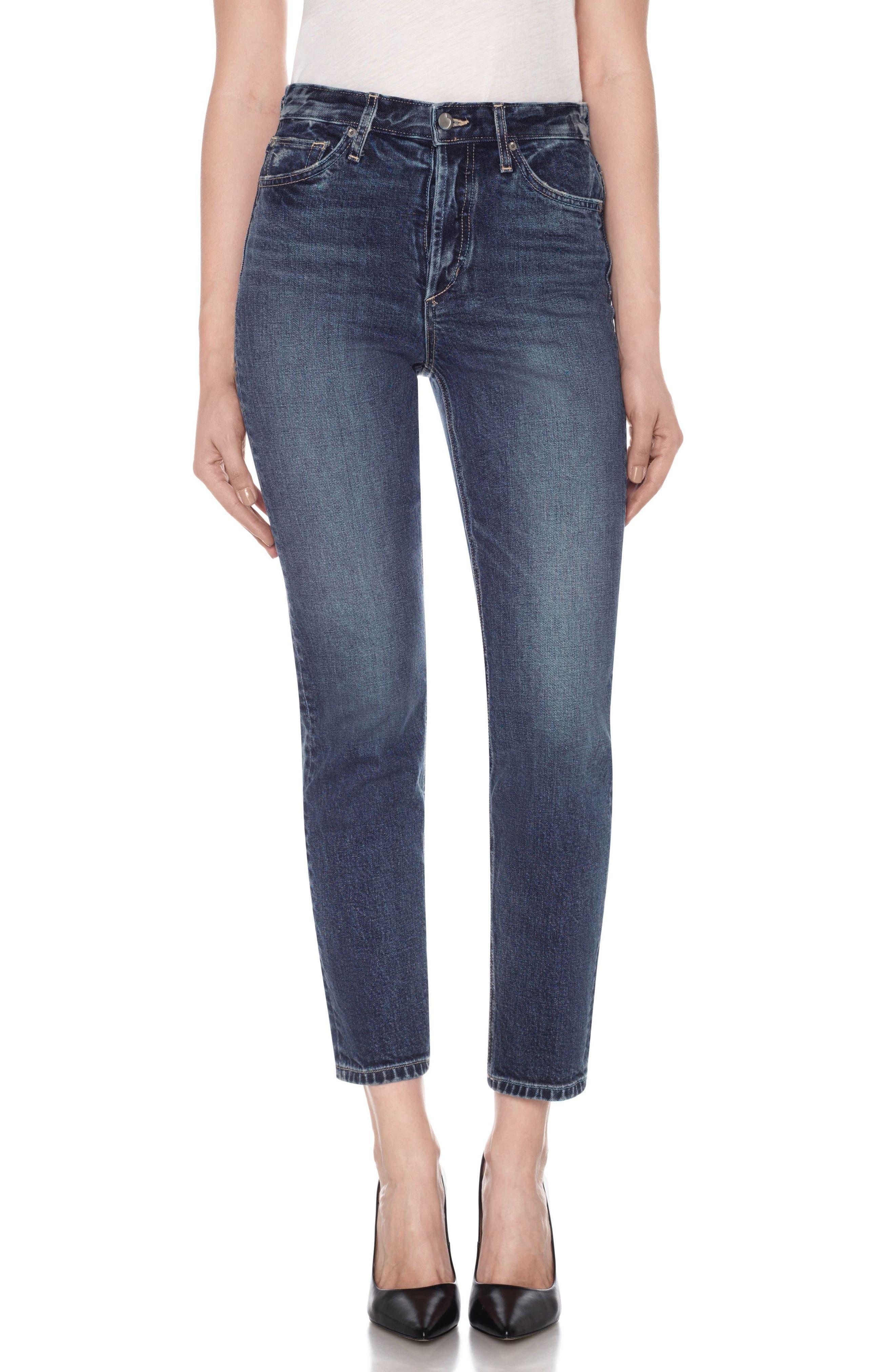 Smith High Waist Ankle Slim Boyfriend Jeans,                         Main,                         color, 400