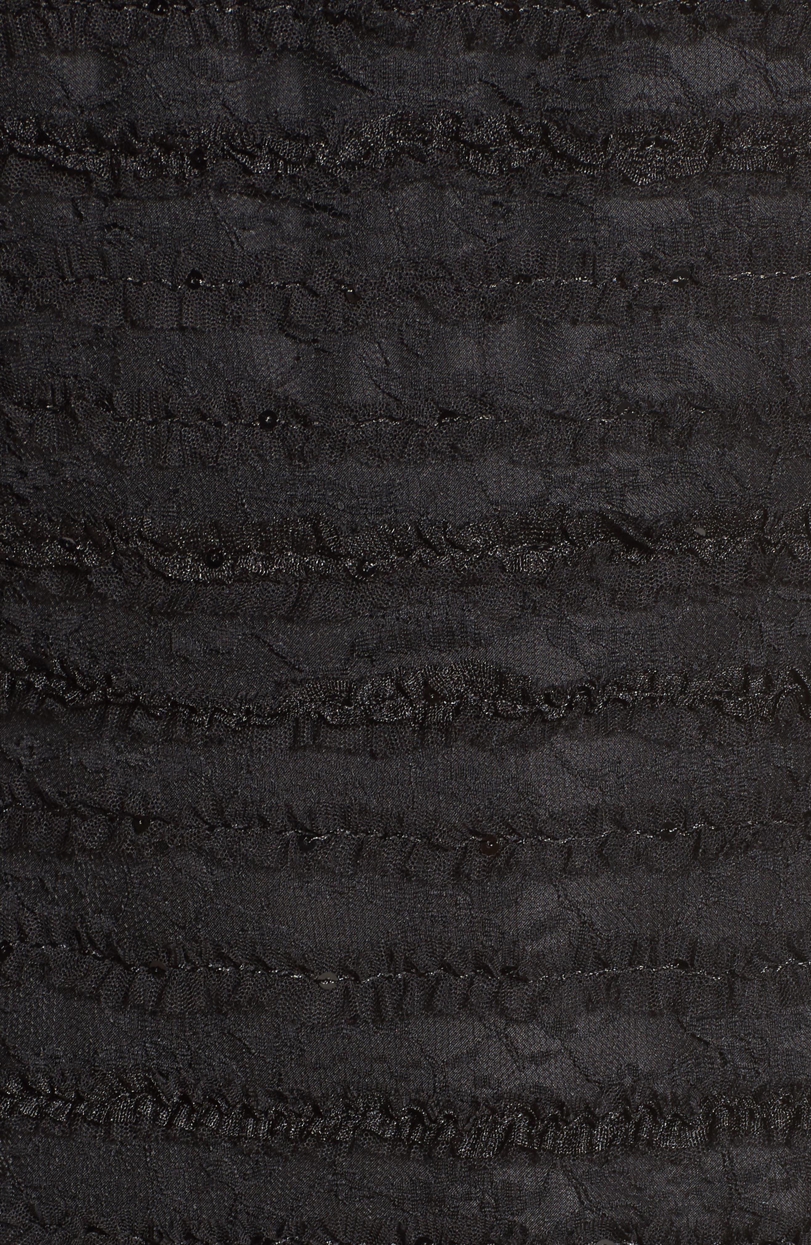 Surrey Lace Halter Sheath Dress,                             Alternate thumbnail 5, color,                             001