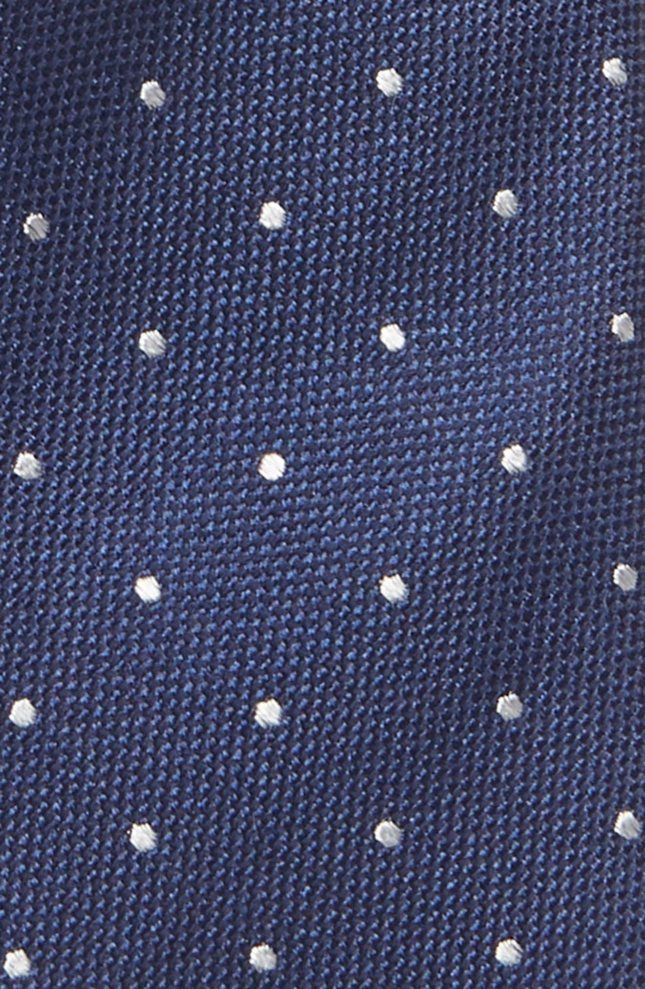 Dot Silk Tie,                             Alternate thumbnail 2, color,                             NAVY