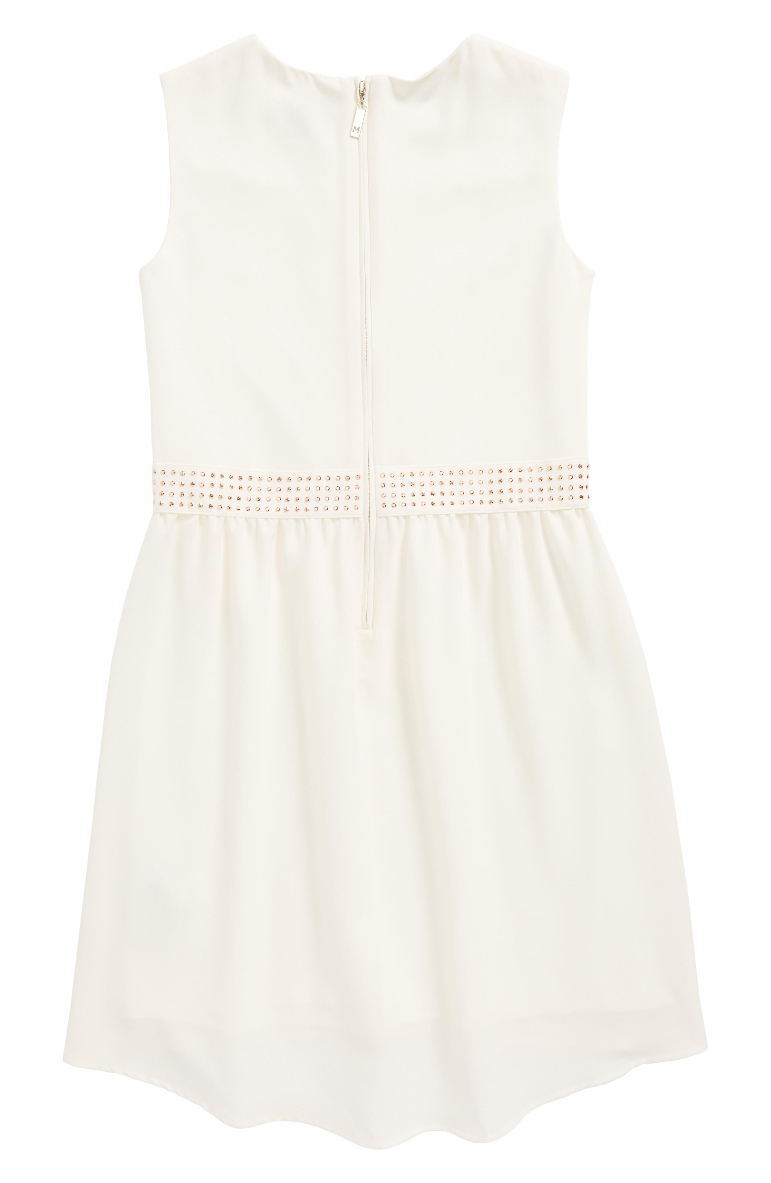 Embellished Crepe High/Low Dress,                             Alternate thumbnail 2, color,                             196