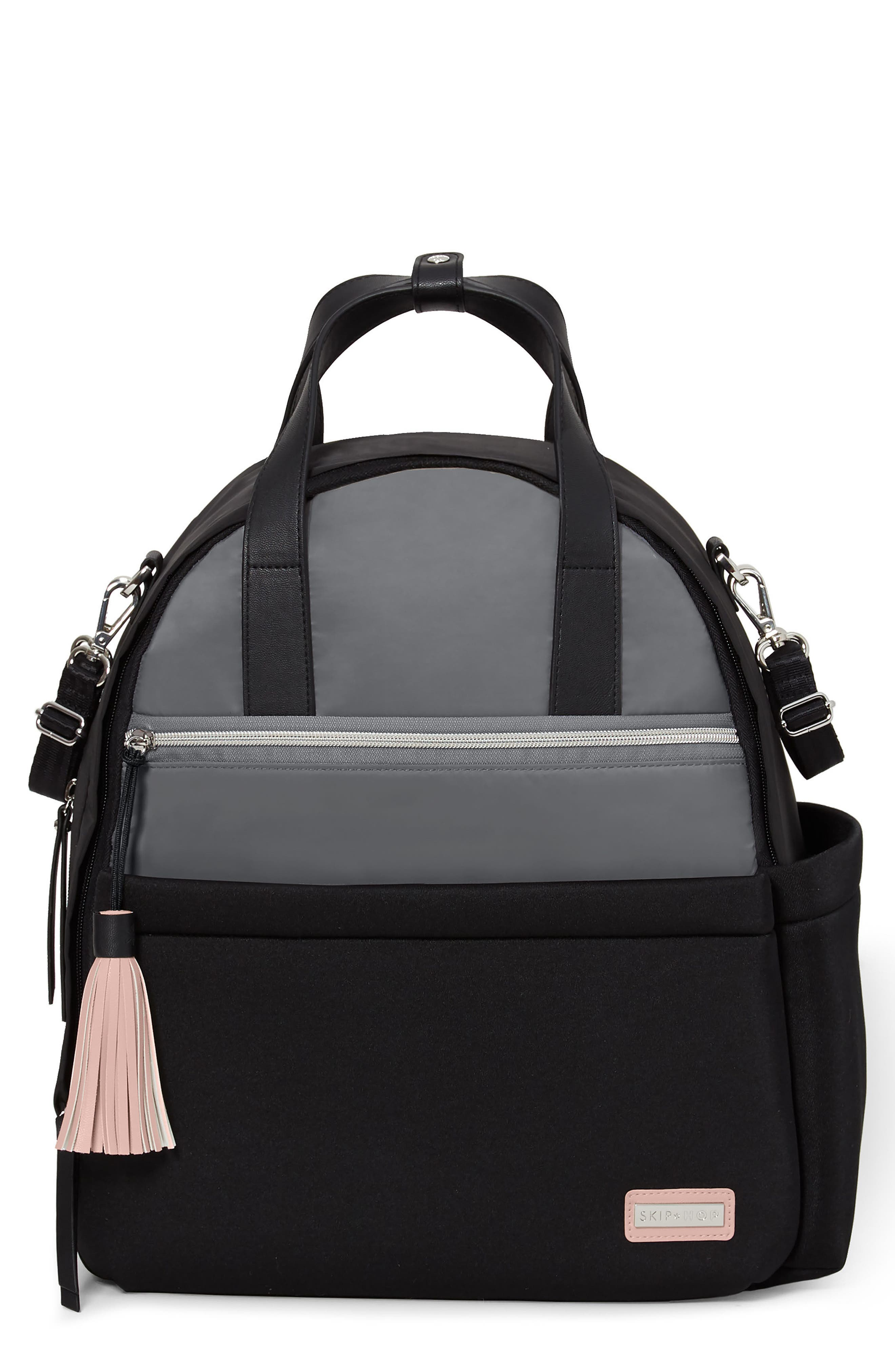 Nolita Neoprene Diaper Backpack,                         Main,                         color, BLACK/ GREY
