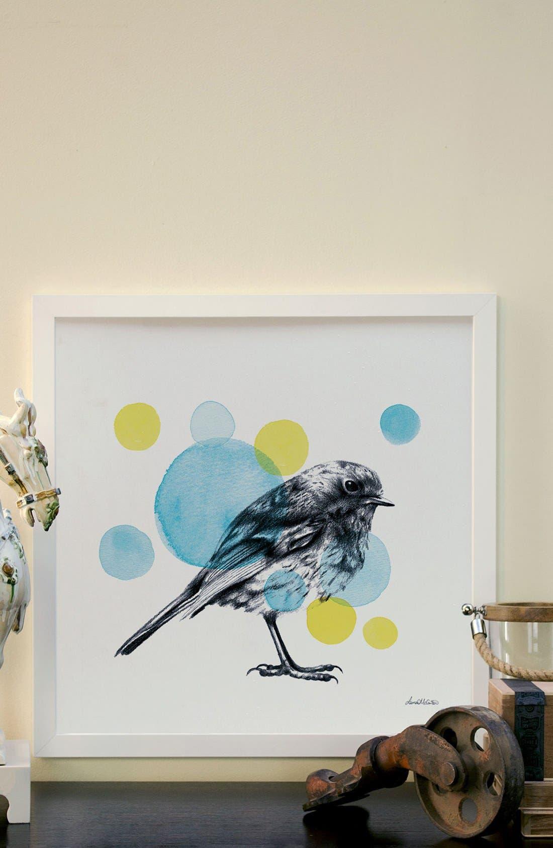 'Sketchbook - Bird' Giclée Print Framed Canvas Art,                             Alternate thumbnail 2, color,                             WHITE