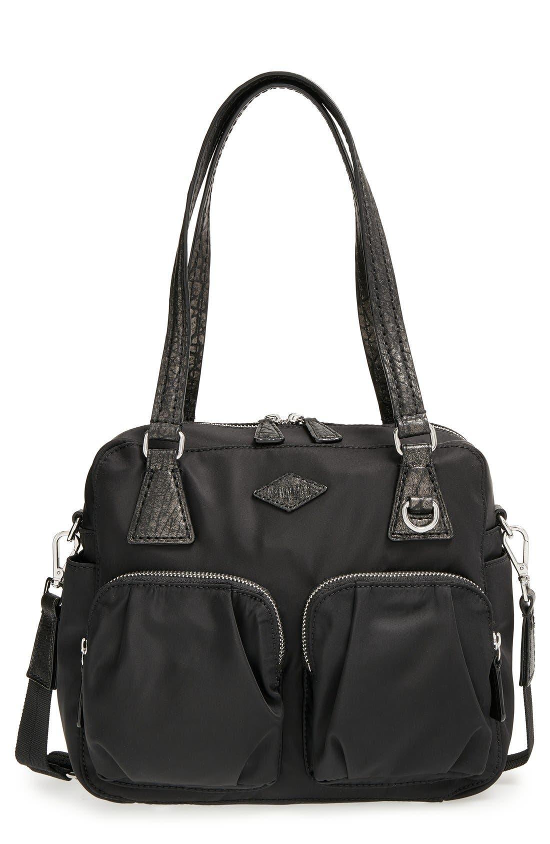 'Small Roxy' Bedford Nylon Shoulder Bag, Main, color, 001