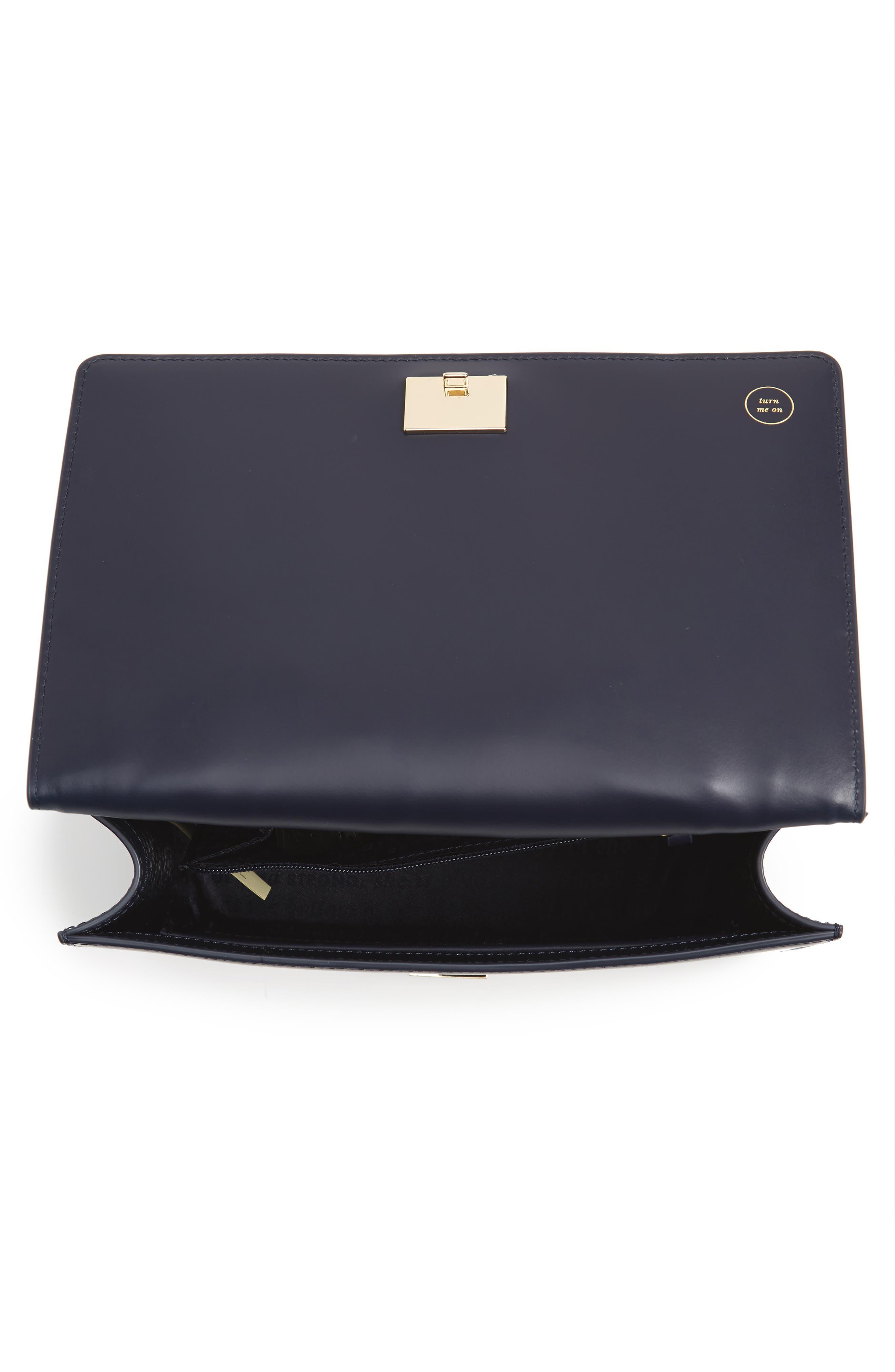 starbright marci LED light-up faux leather shoulder bag,                             Alternate thumbnail 4, color,                             400