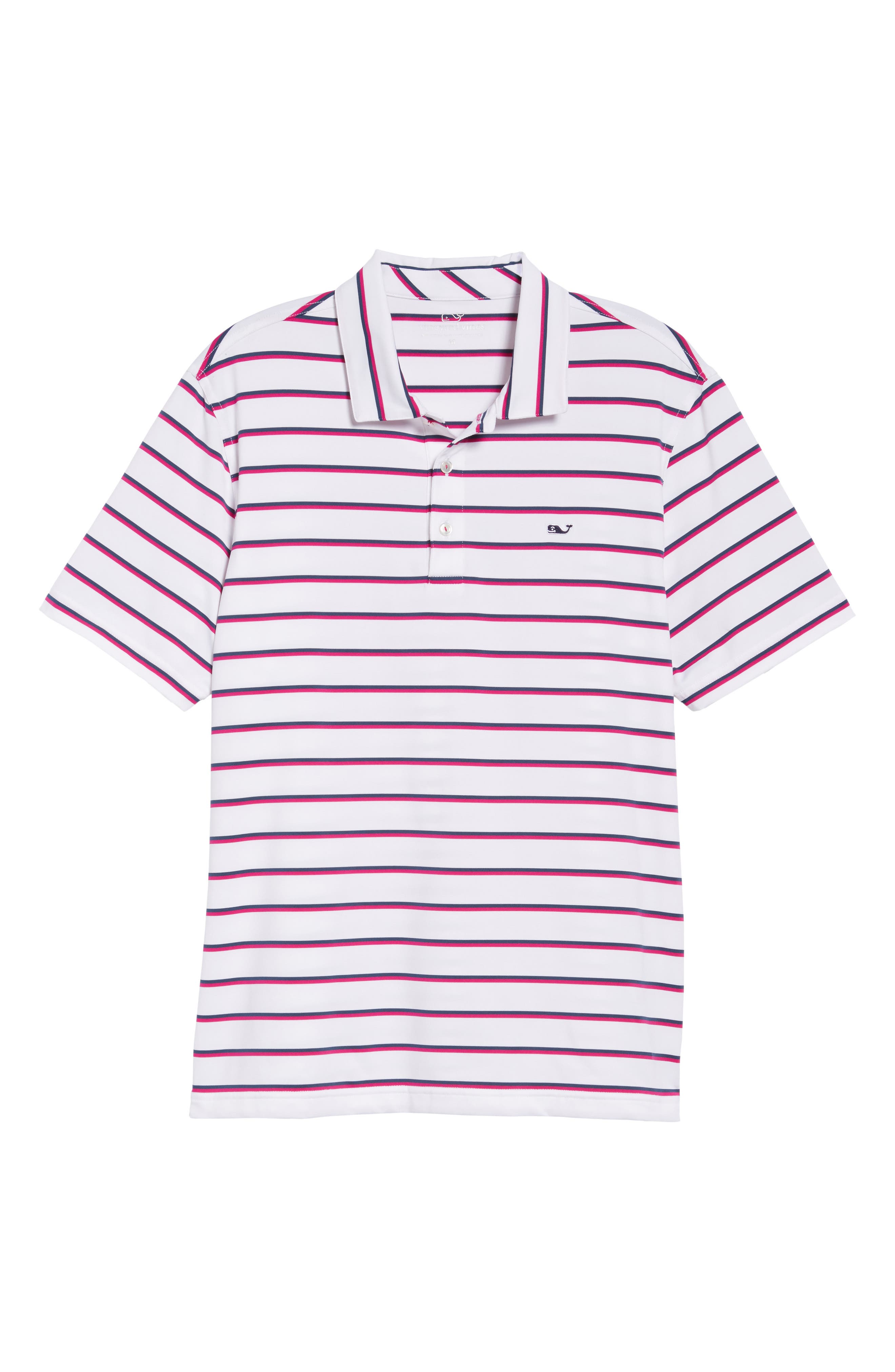 Eshman Stripe Polo,                             Alternate thumbnail 6, color,                             100