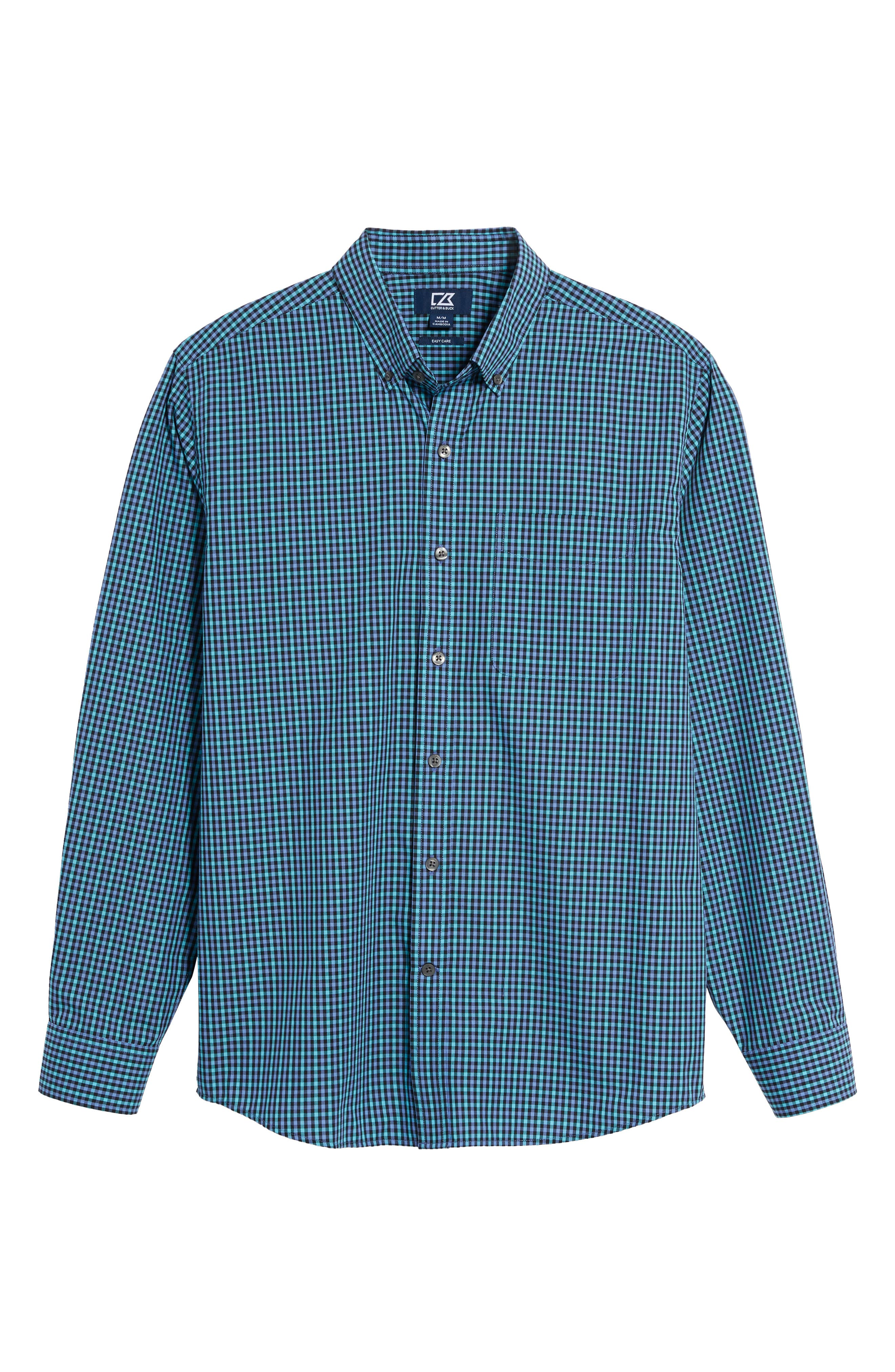 Barrett Easy Care Check Sport Shirt,                             Alternate thumbnail 17, color,