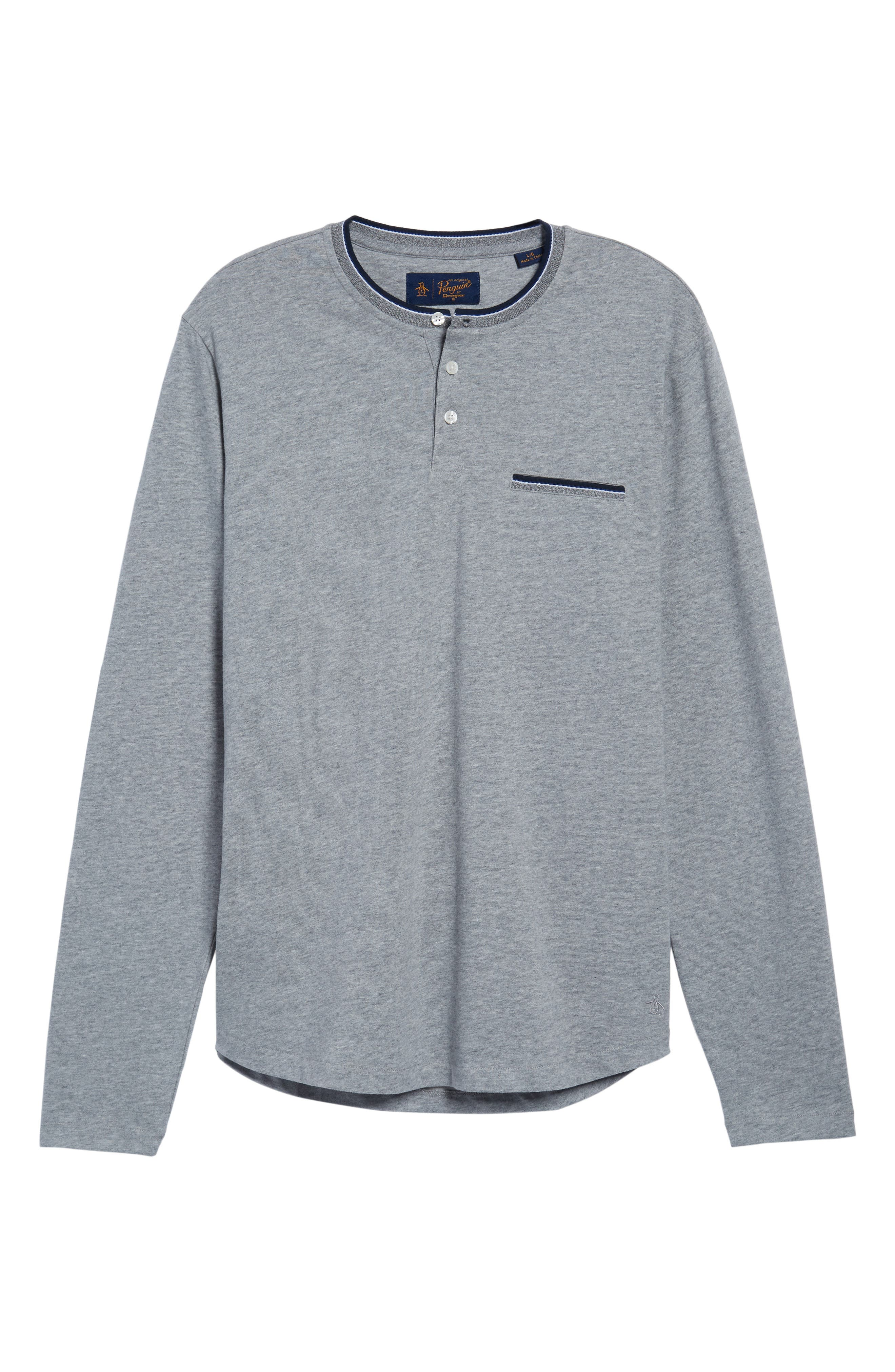 Sueded Tipped Henley,                             Alternate thumbnail 6, color,                             055