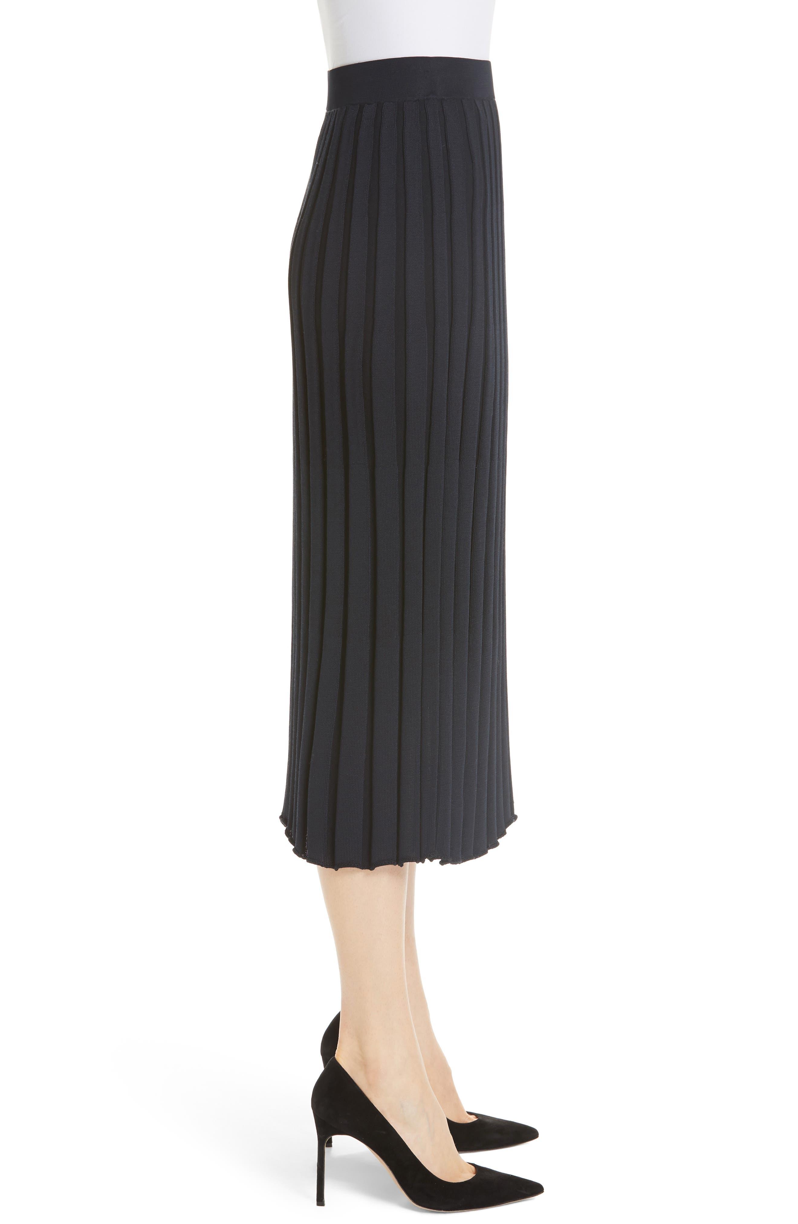 Metropolitan Shine Plaited Rib Skirt,                             Alternate thumbnail 3, color,                             400