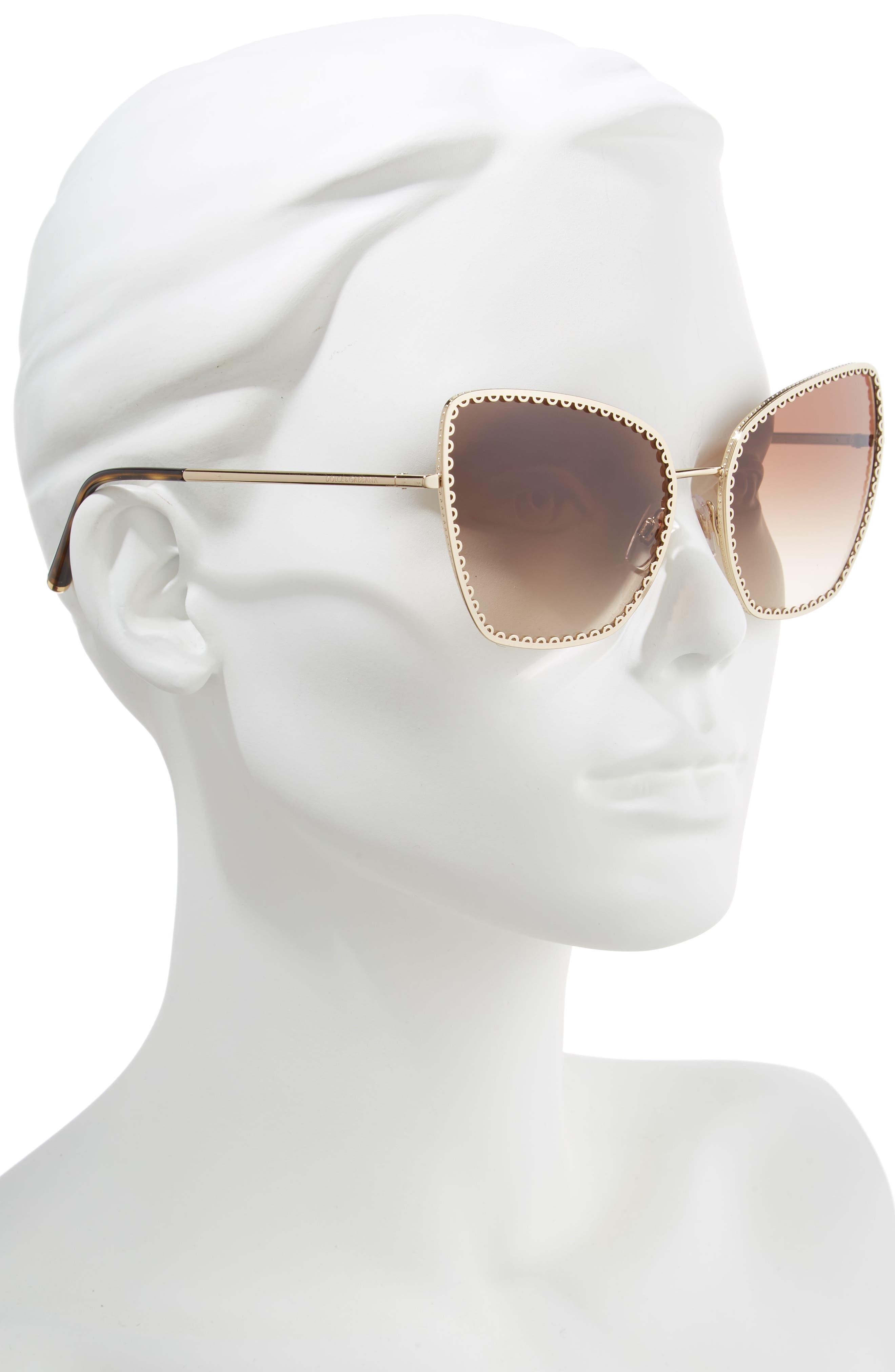 Sacred Heart 61mm Gradient Cat Eye Sunglasses,                             Alternate thumbnail 2, color,                             GOLD GRADIENT