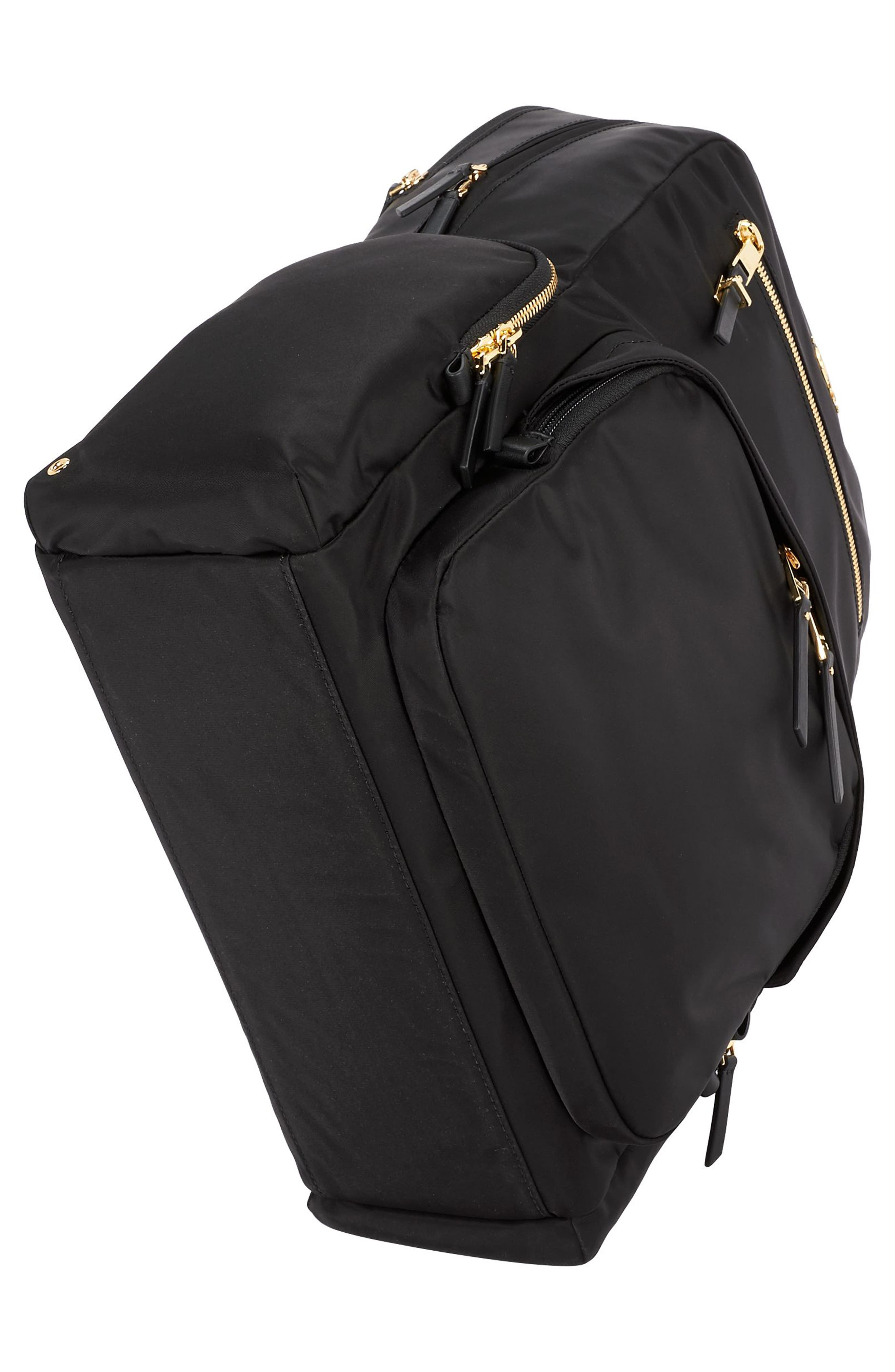 Voyager Carson Nylon Backpack,                             Alternate thumbnail 5, color,                             001