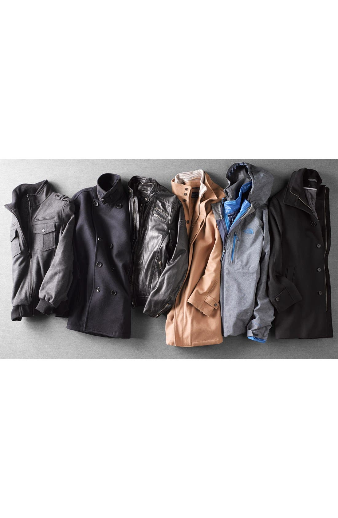 Wool Blend Double Breasted Peacoat,                             Alternate thumbnail 35, color,