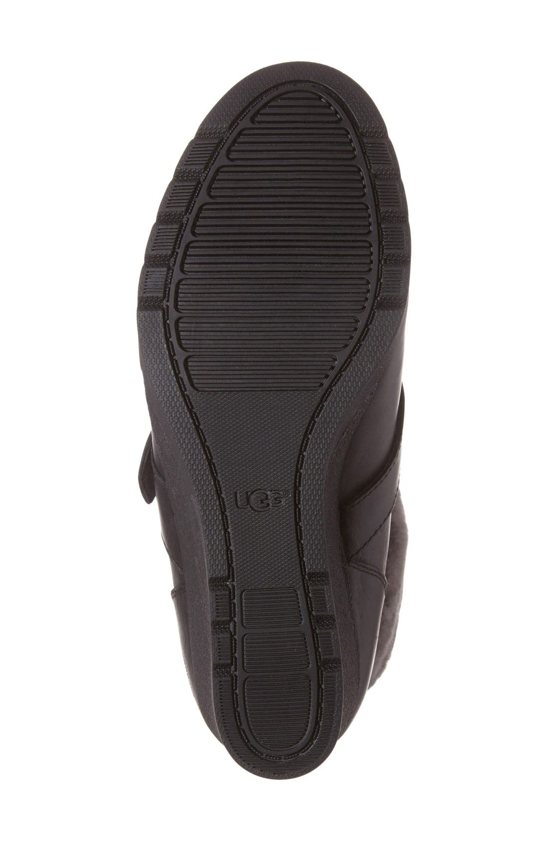 Janney Waterproof Thinsulate<sup>®</sup> Wedge Bootie,                             Alternate thumbnail 4, color,                             001