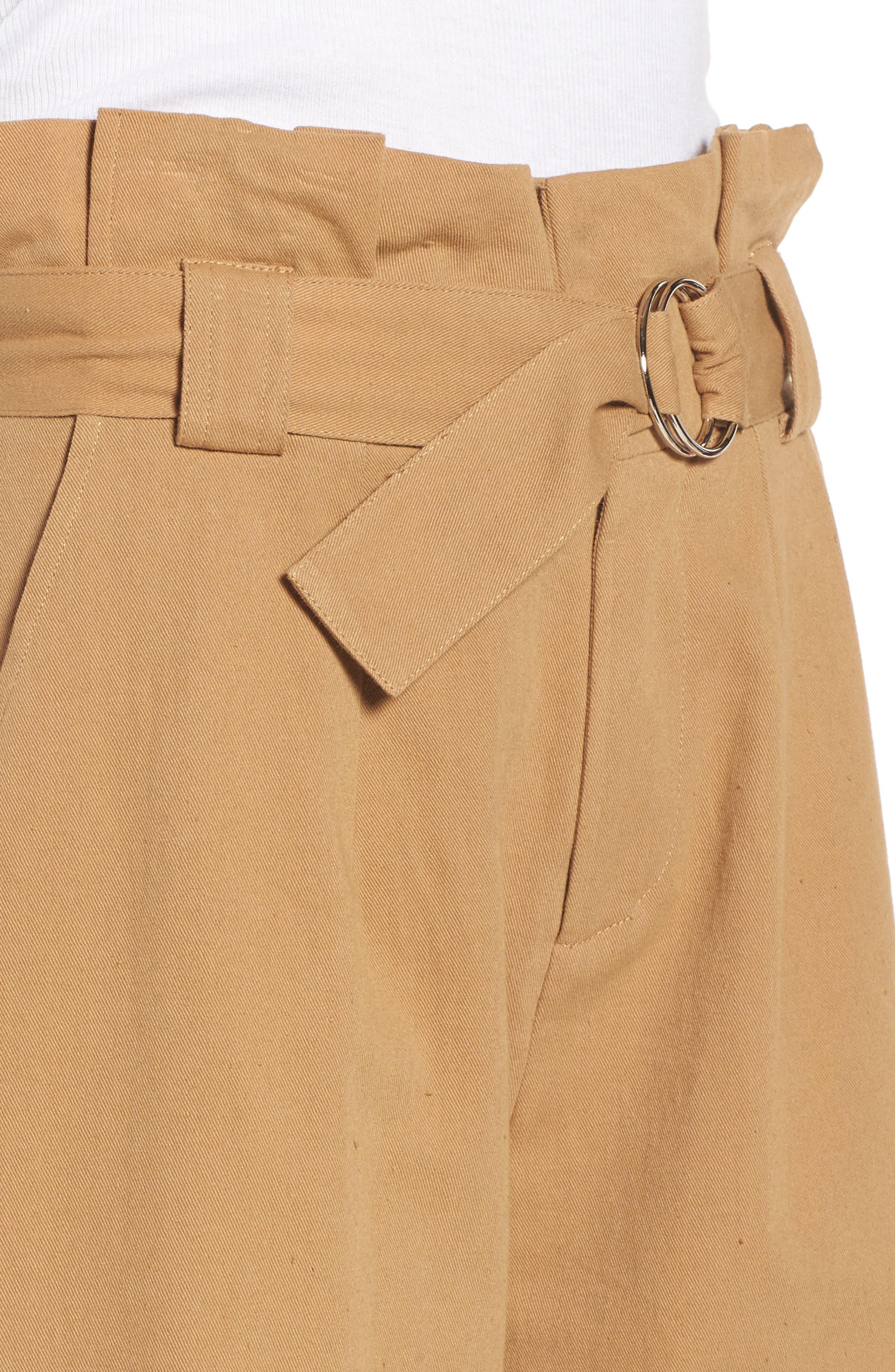 Paperbag Waist Crop Pants,                             Alternate thumbnail 4, color,                             250