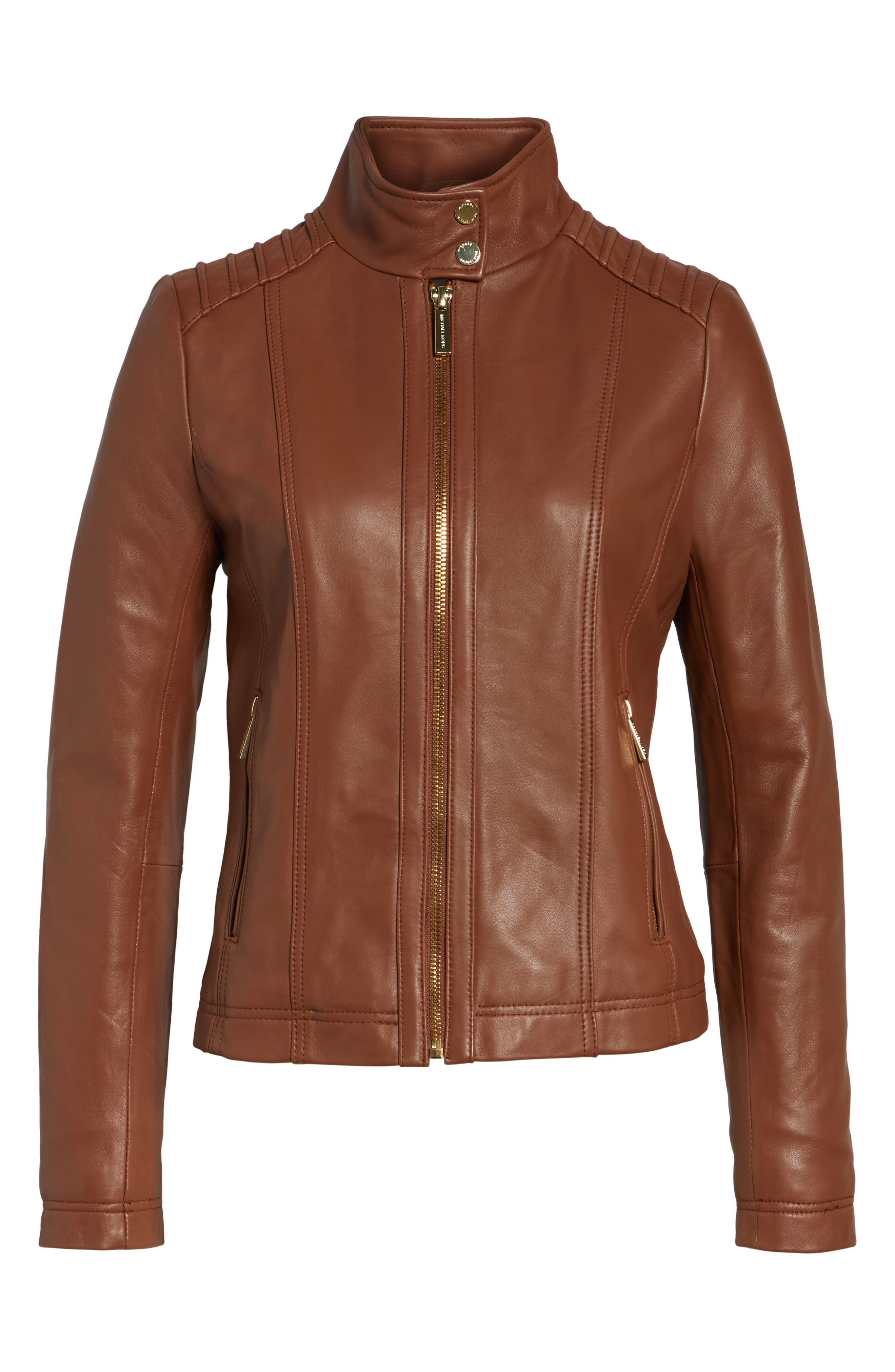 Leather Moto Jacket,                             Alternate thumbnail 10, color,