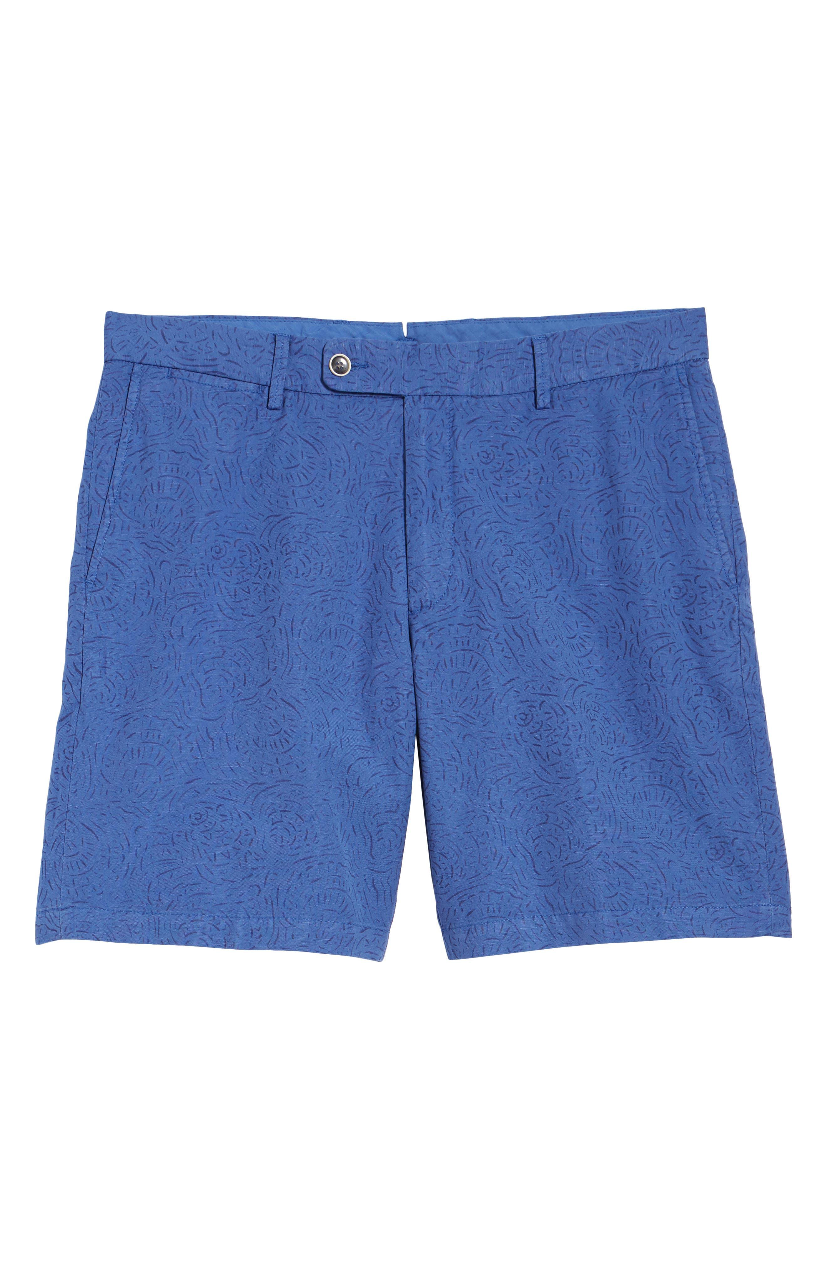 Seaside Tidal Print Shorts,                             Alternate thumbnail 6, color,                             BONNET