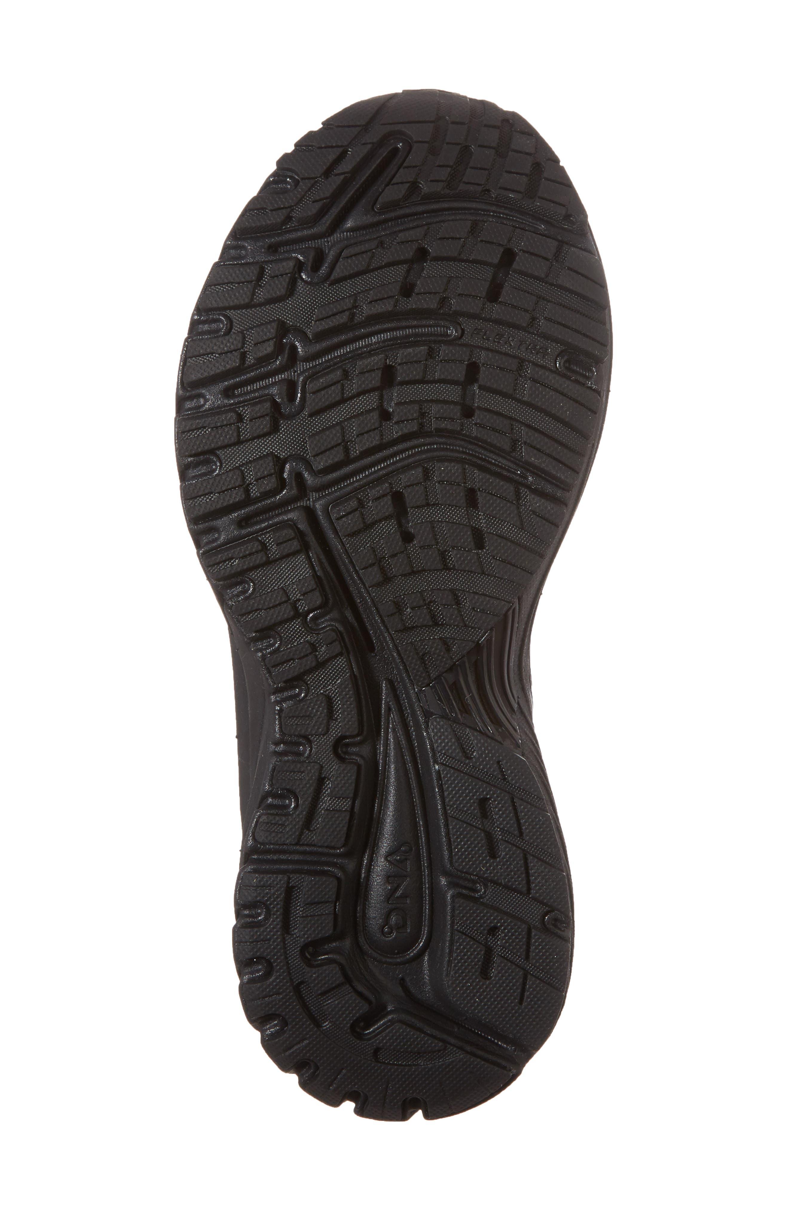 Adrenaline GTS 18 Running Shoe,                             Alternate thumbnail 6, color,                             BLACK/ BLACK