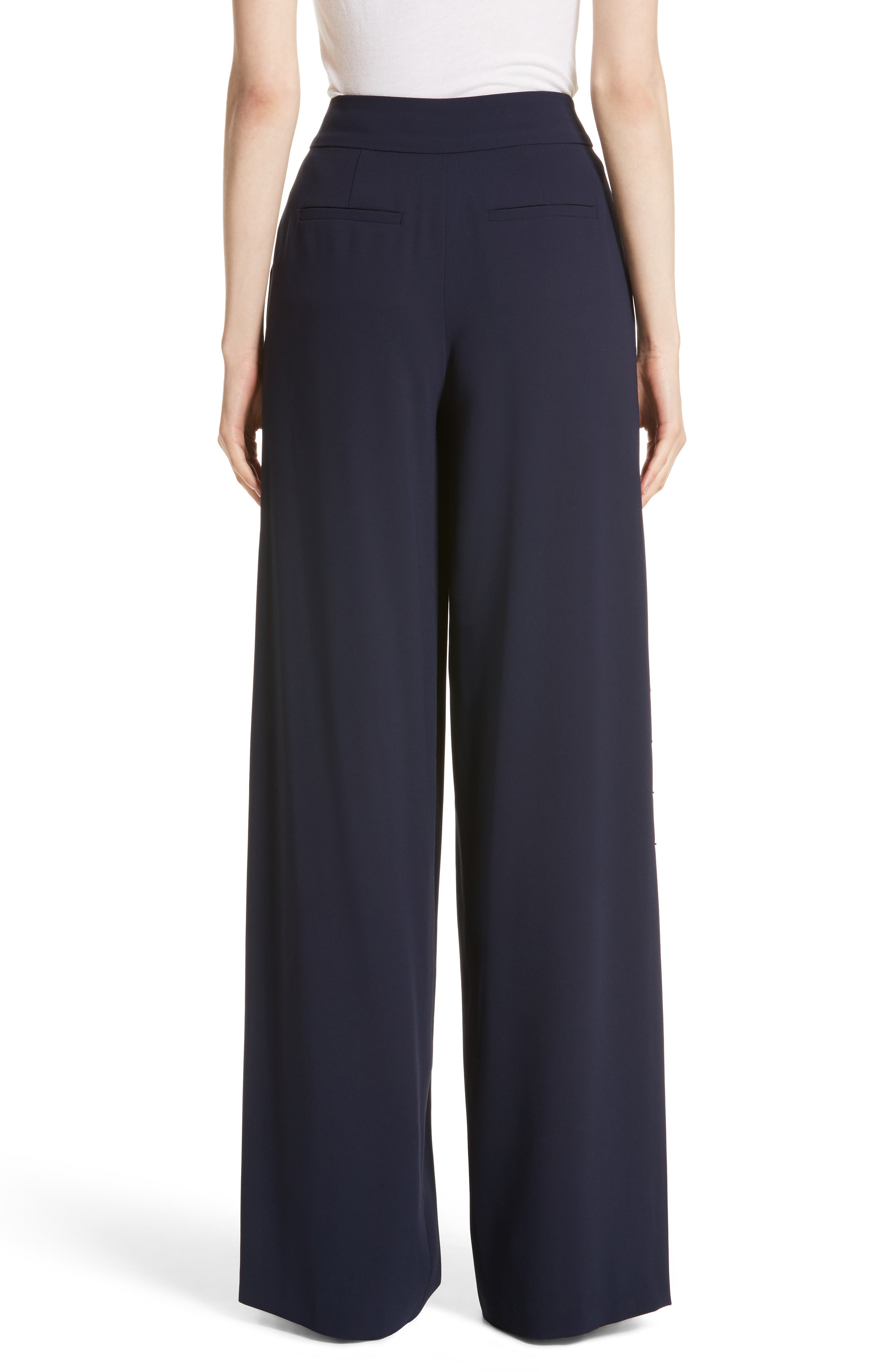 Shavon High Waist Side Slit Flare Pants,                             Alternate thumbnail 2, color,                             400