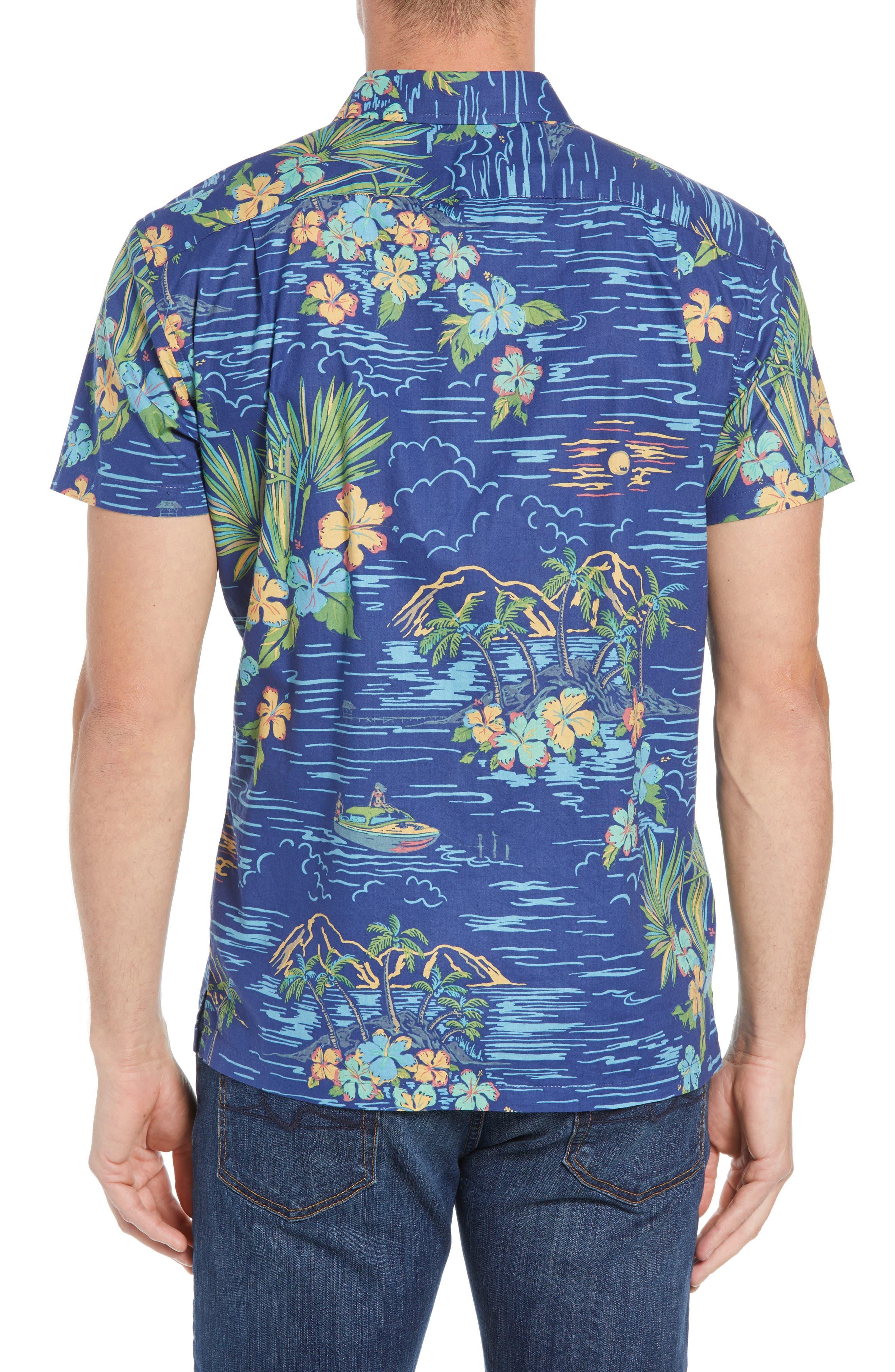 Bali Trim Fit Sport Shirt,                             Alternate thumbnail 3, color,                             415