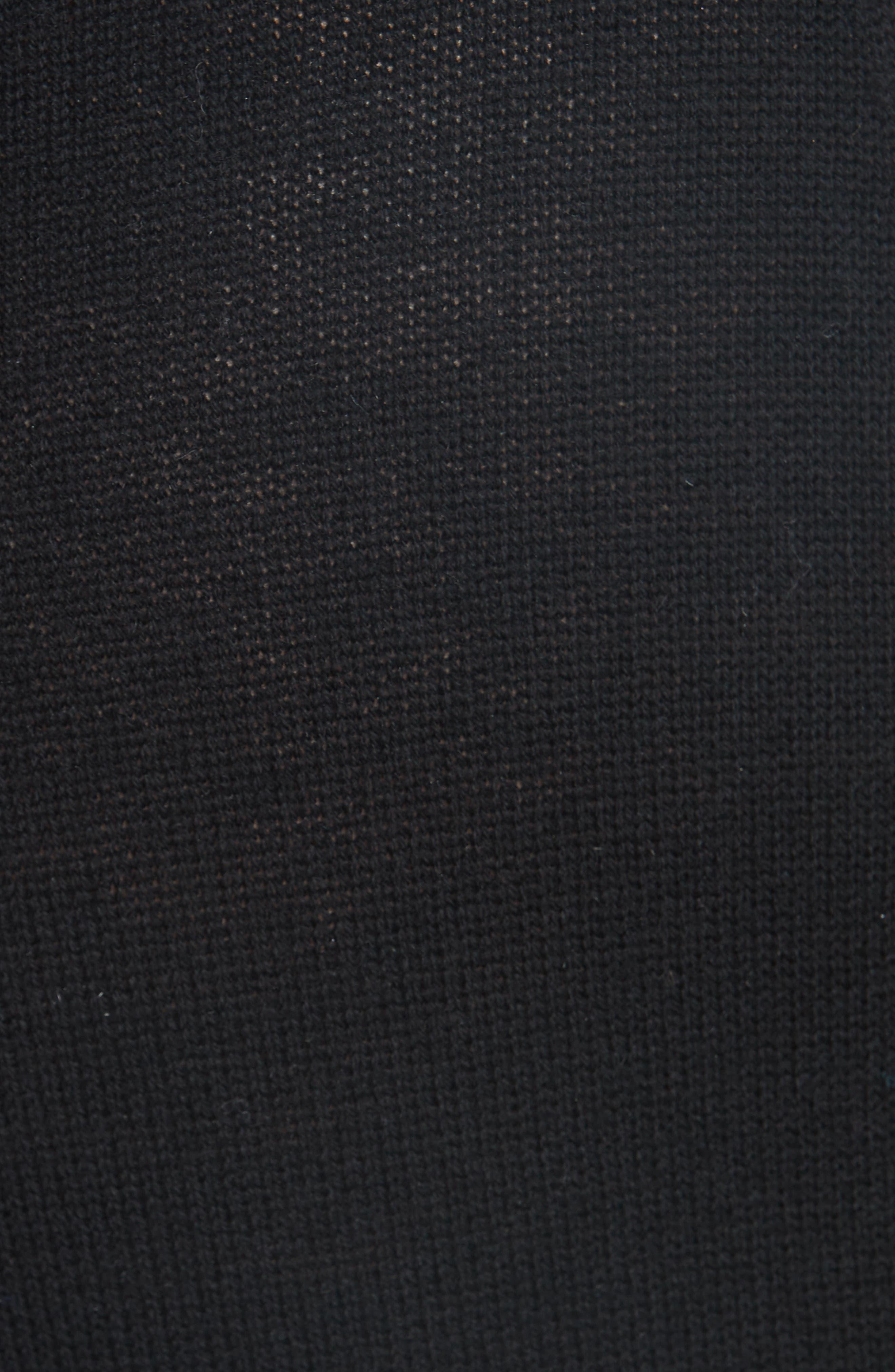Metallic Knit Wool Blend Trousers,                             Alternate thumbnail 5, color,                             BLACK