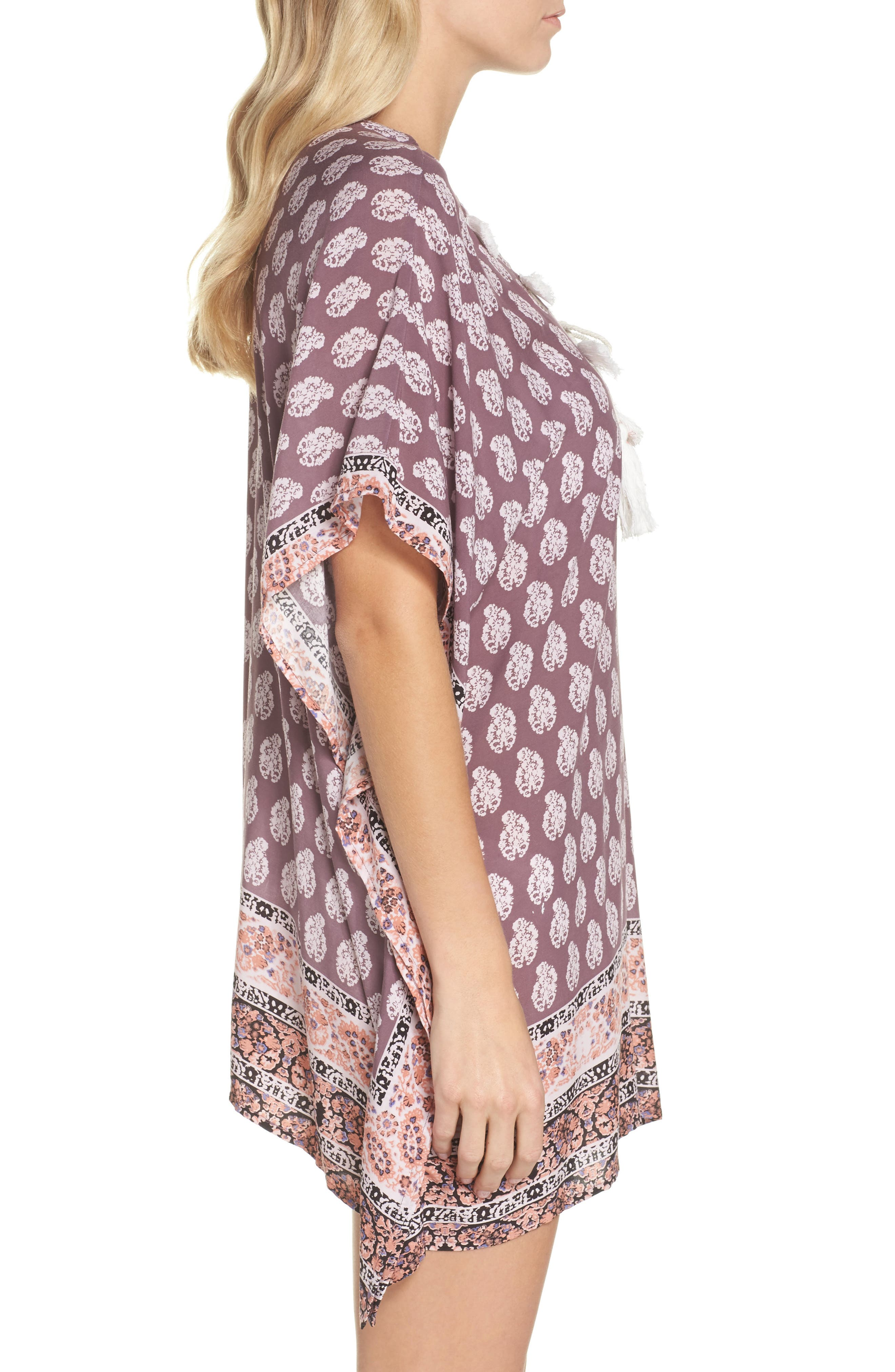 Plum Paradise Cover-Up Tunic,                             Alternate thumbnail 3, color,                             510