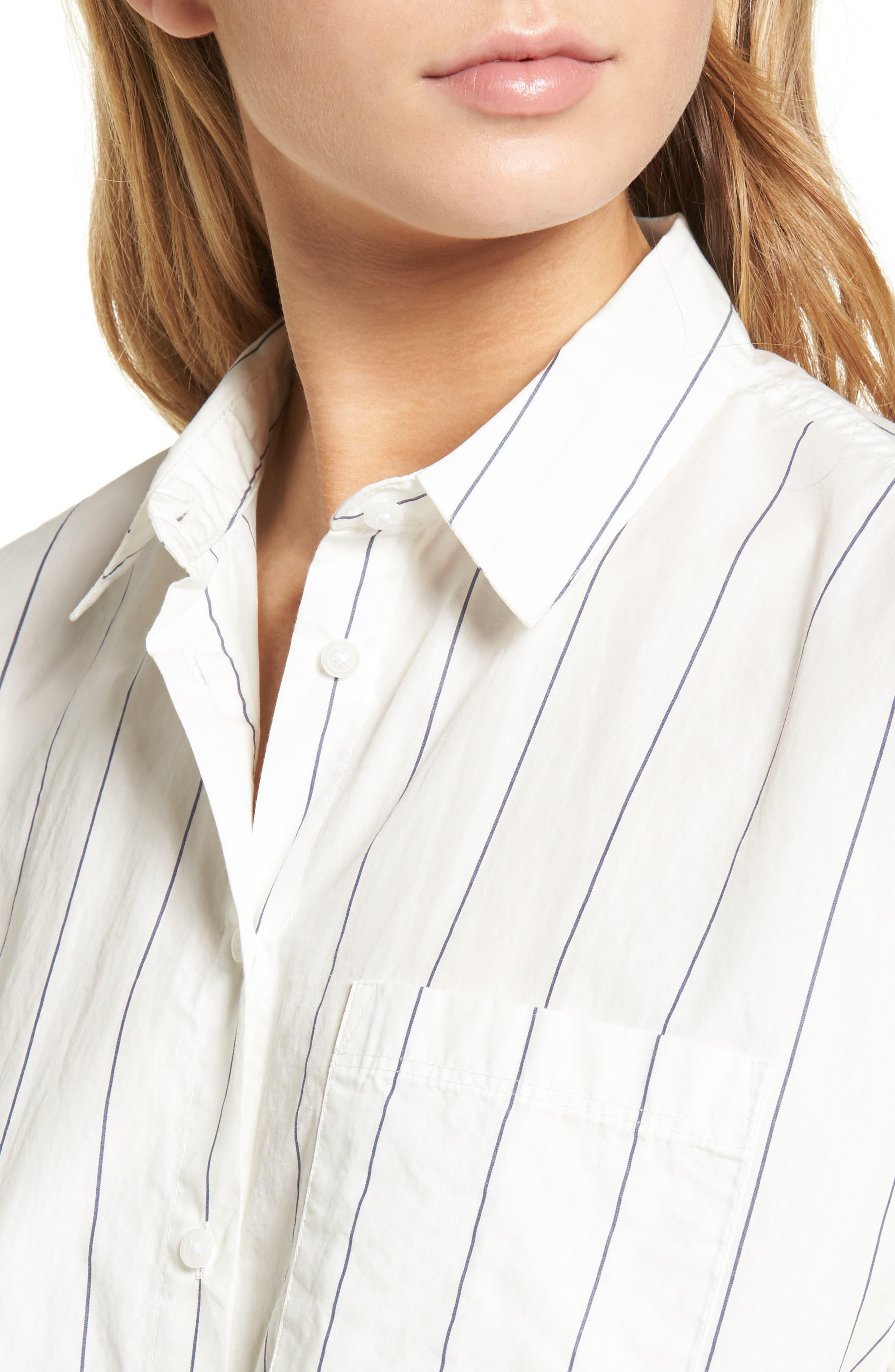 Tie Front Shirt,                             Alternate thumbnail 5, color,                             100