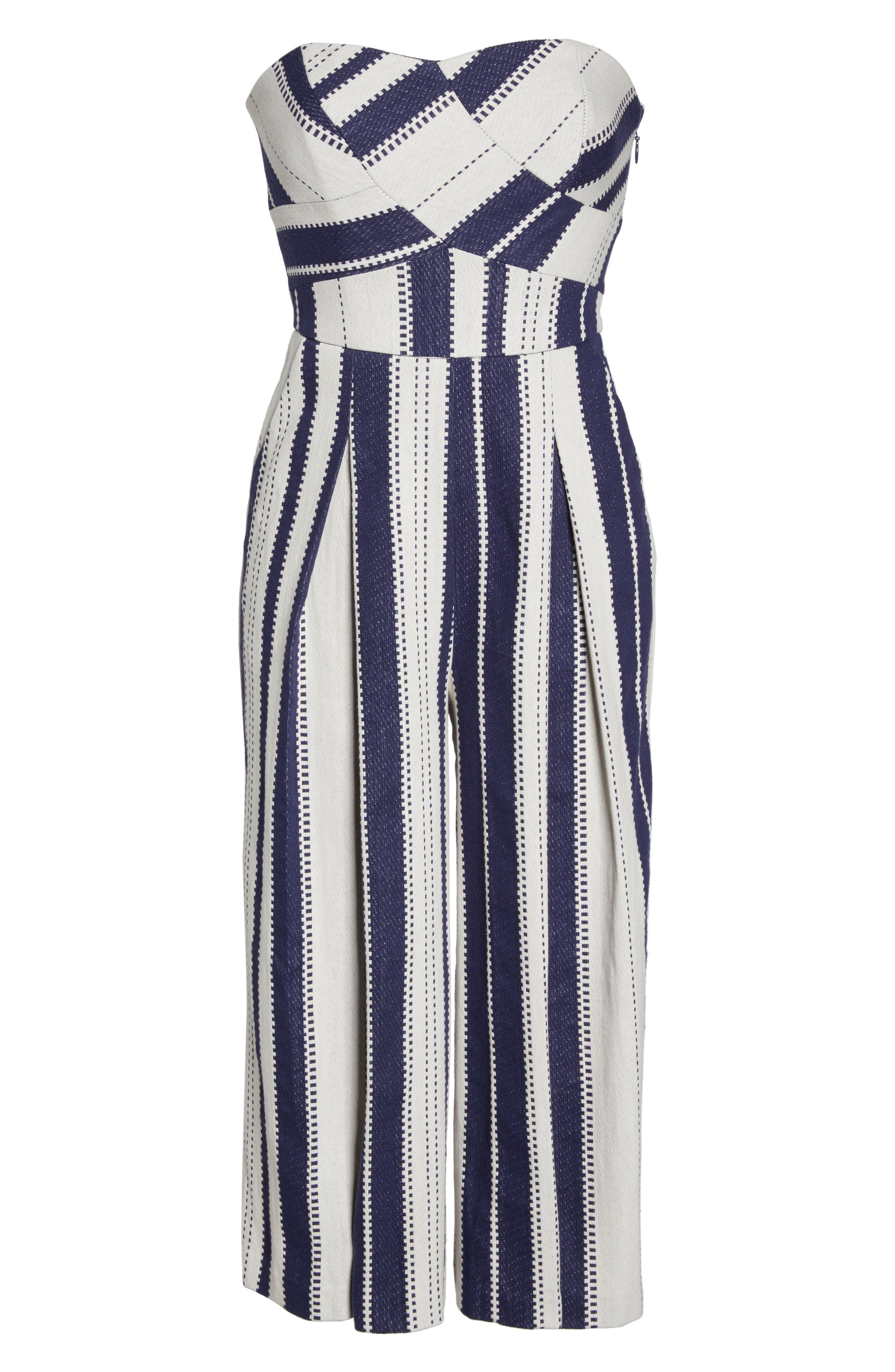 Justyna Strapless Jumpsuit,                             Alternate thumbnail 6, color,