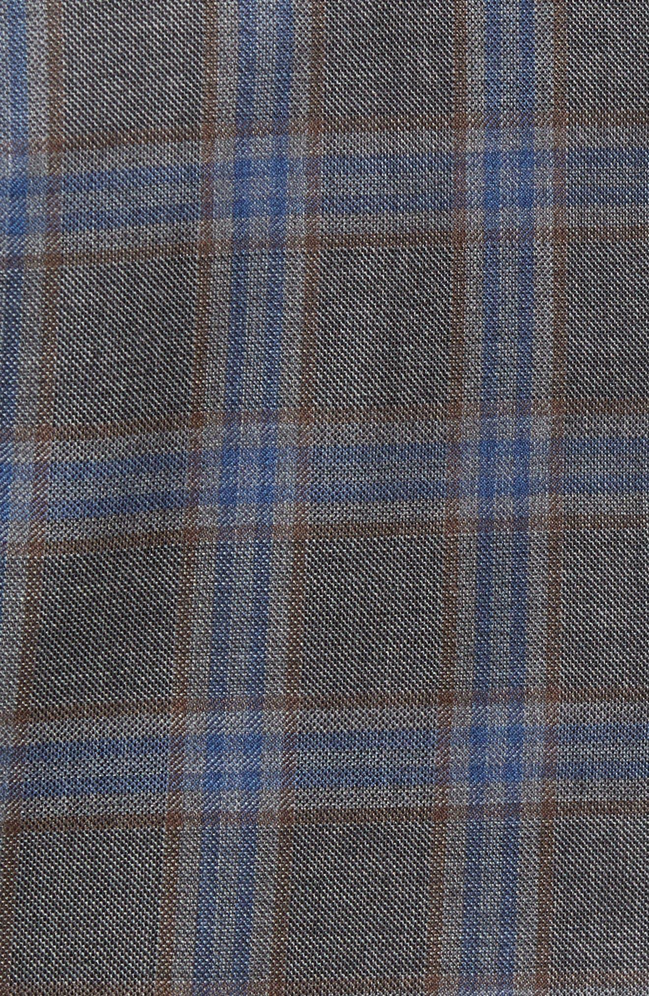 Plaid Wool Sport Coat,                             Alternate thumbnail 6, color,                             050