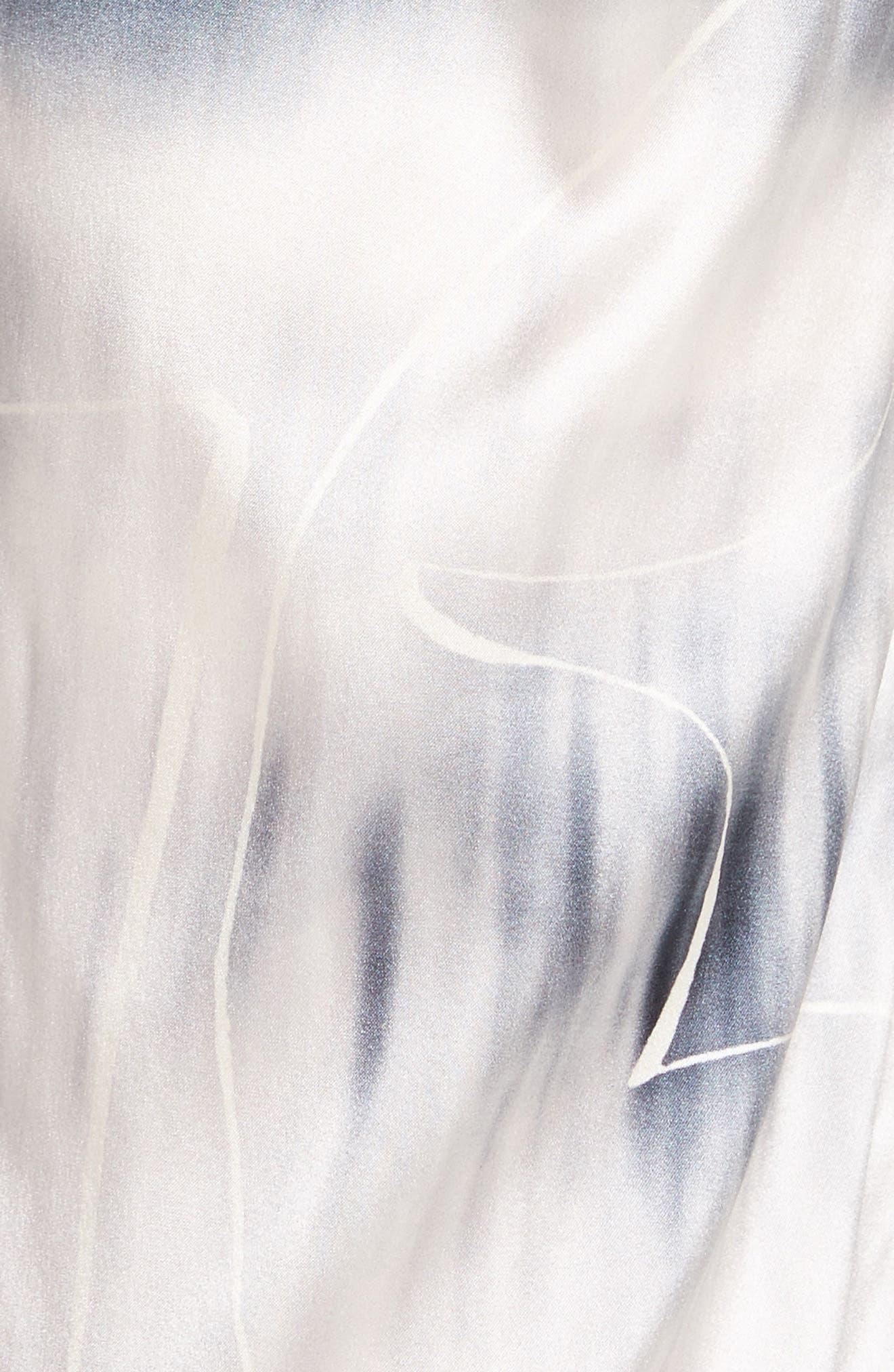 Eko Elliott X-Ray Stretch Silk Pants,                             Alternate thumbnail 5, color,                             100