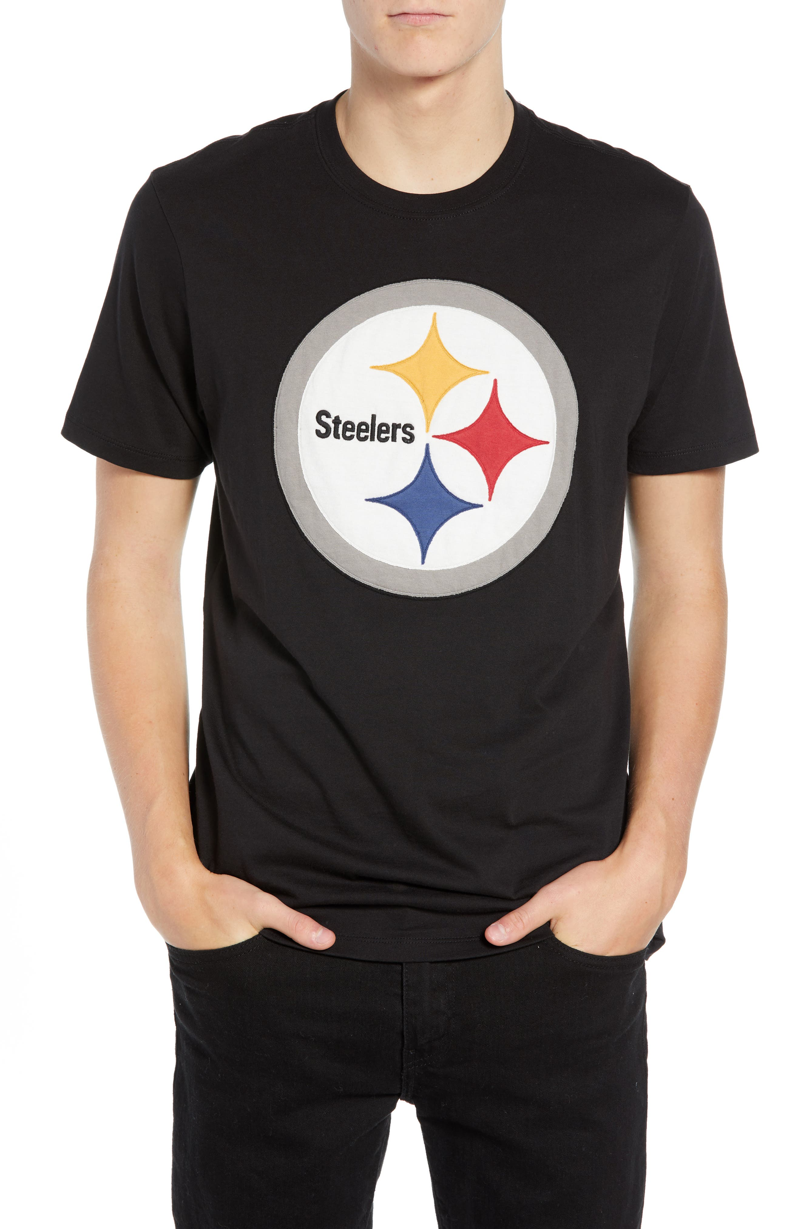 NFL Knockout Fieldhouse T-Shirt,                             Main thumbnail 1, color,                             PITTSBURGH STEELERS