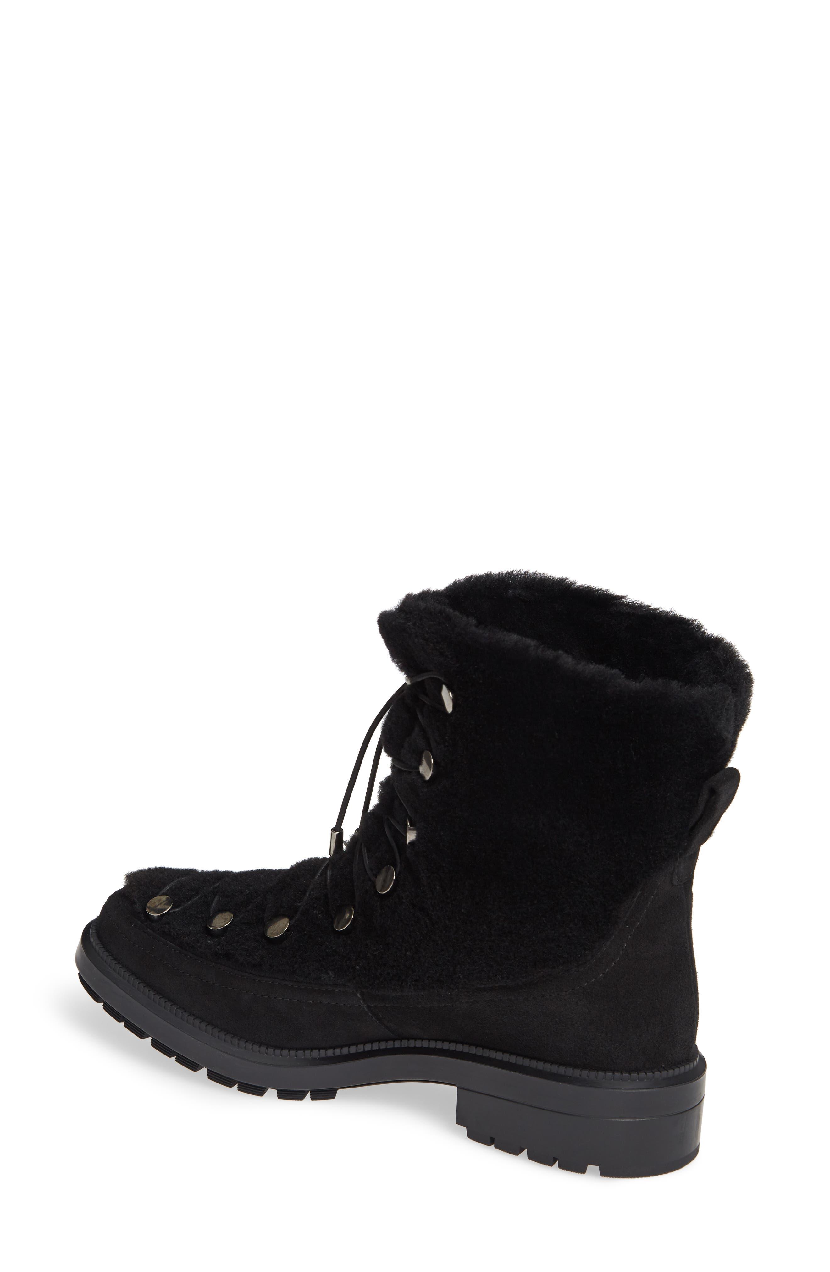 Lorena Genuine Shearling Boot,                             Alternate thumbnail 2, color,                             BLACK