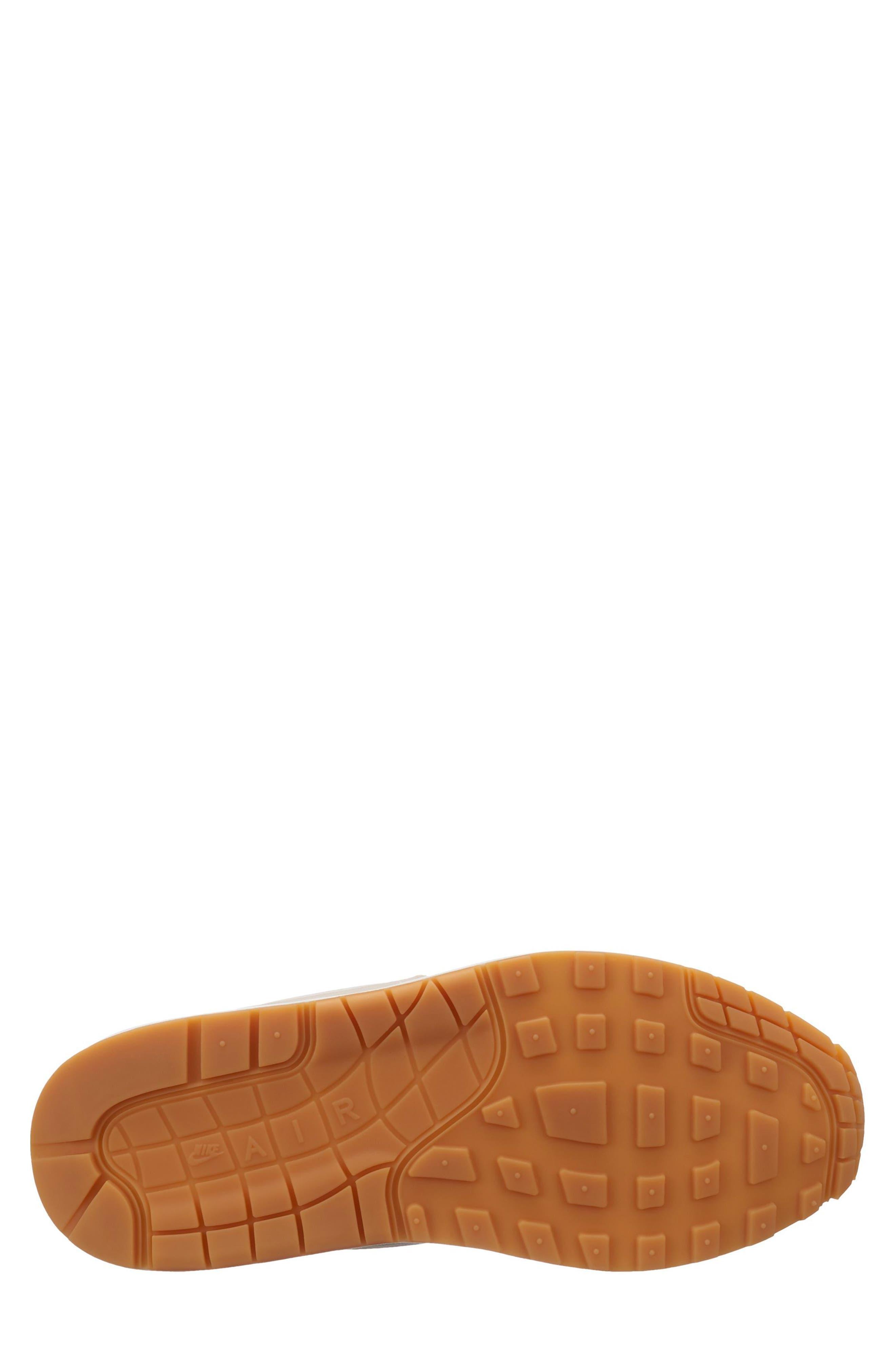 Air Max 1 Sneaker,                             Alternate thumbnail 7, color,                             DESERT SAND