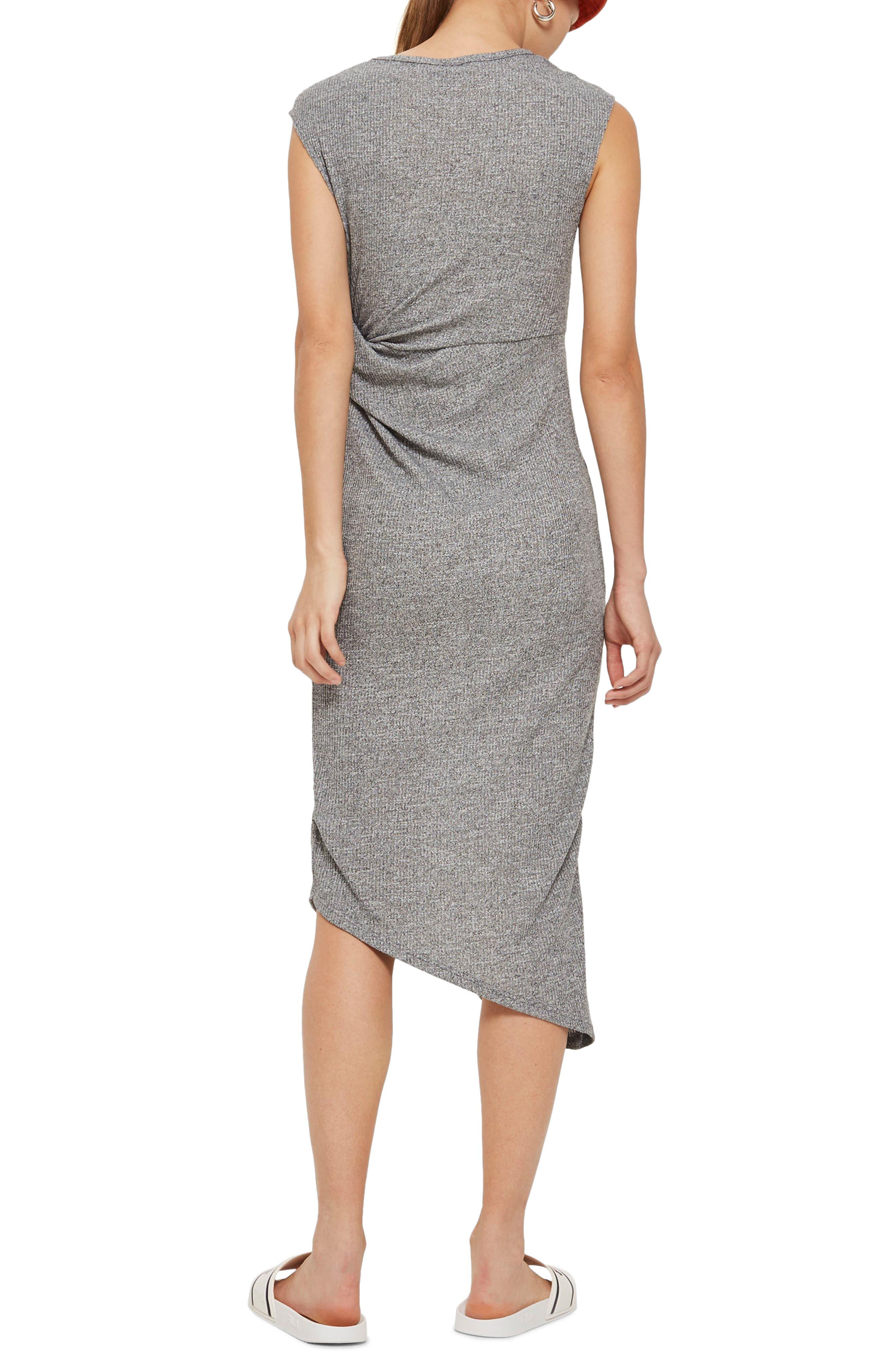 Side Drape Maxi Dress,                             Alternate thumbnail 2, color,                             020