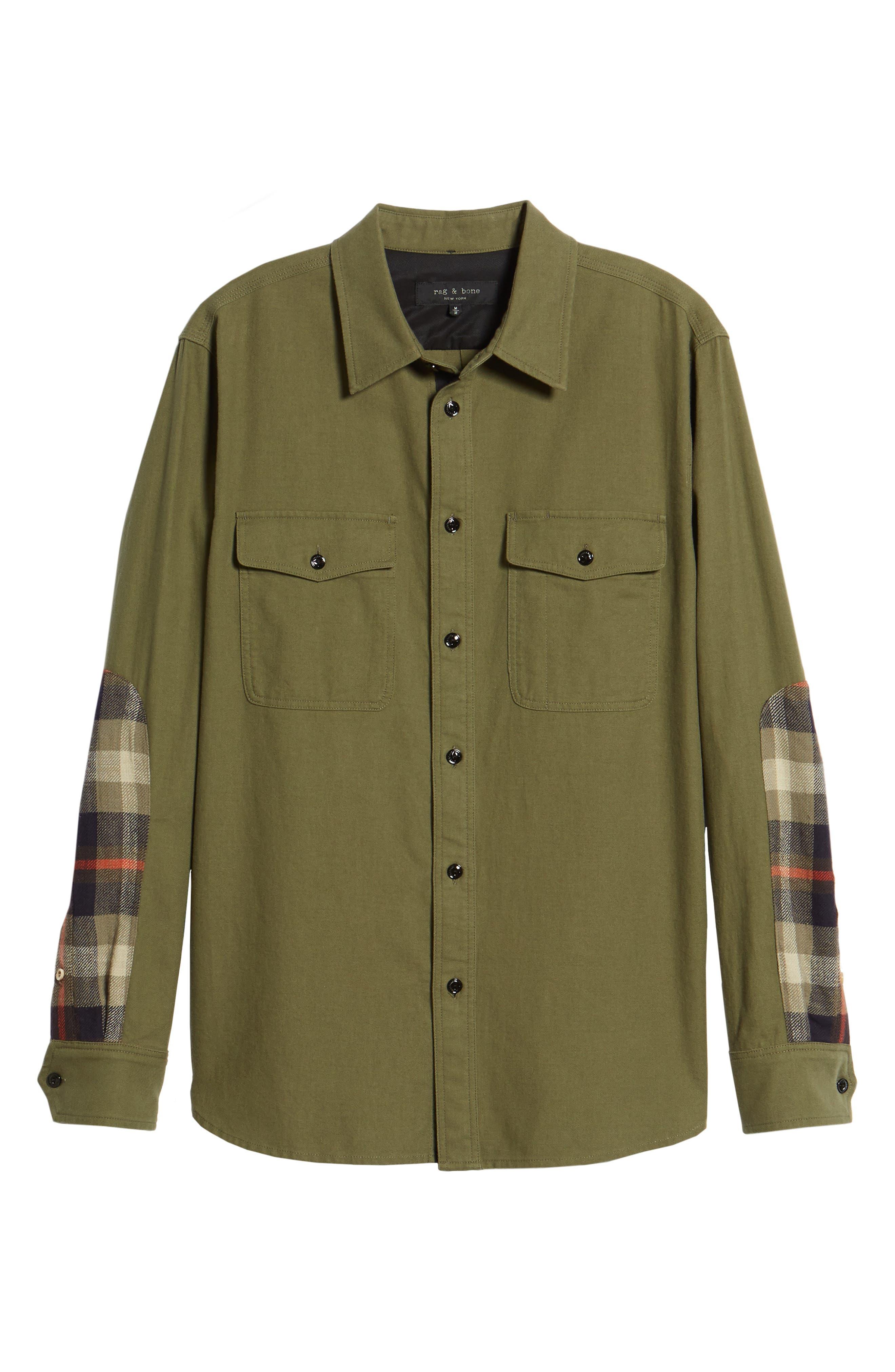 rag + bone Jack Slim Fit Plaid Sport Shirt,                             Alternate thumbnail 6, color,                             315